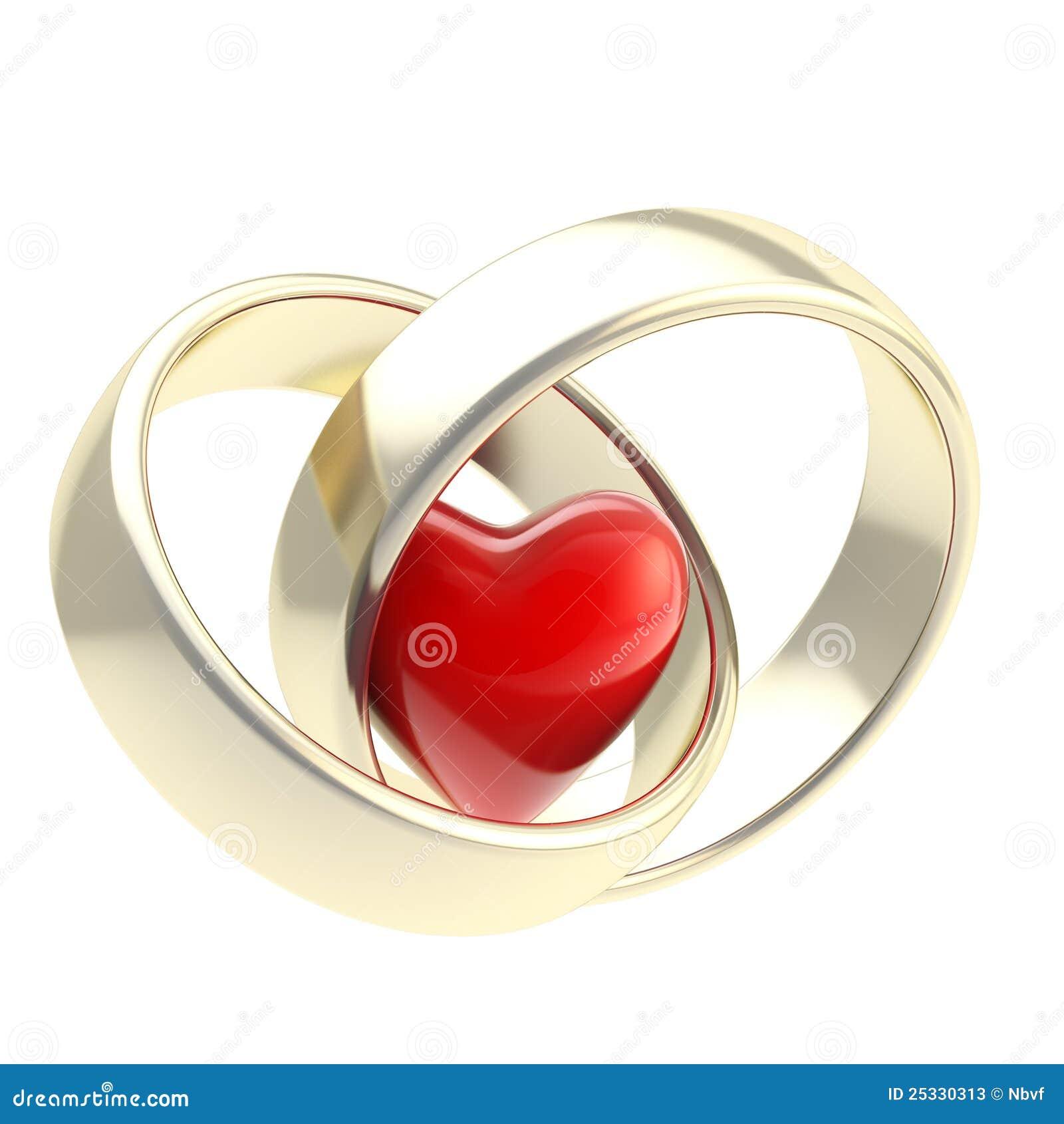 Zwei Ringe Der Goldenen Hochzeit Getrennt Stock Illustrationen