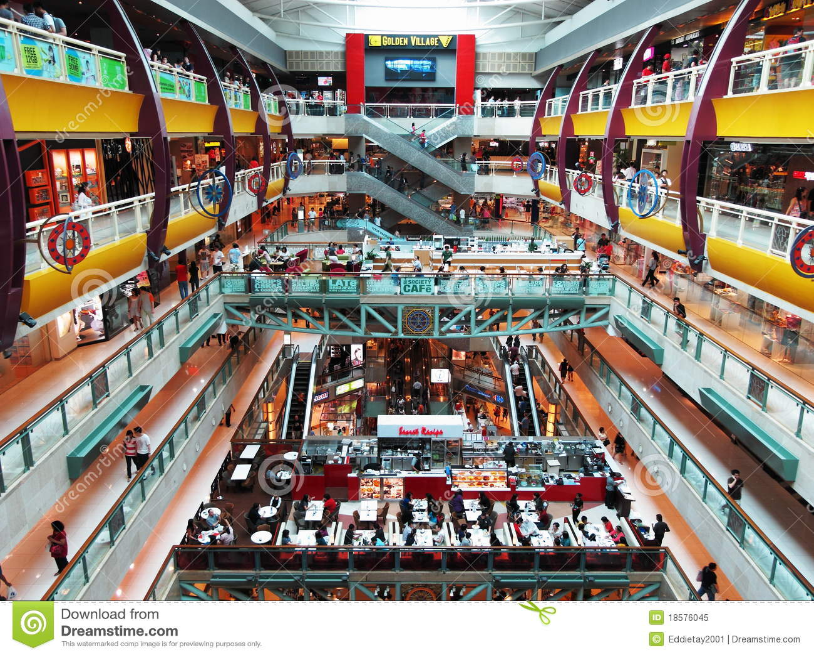 Inneres Piazza Singapura Einkaufszentrum In Singapur