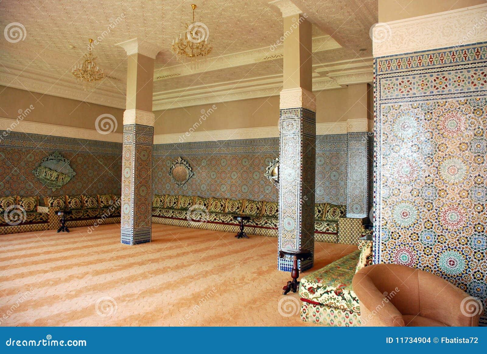 inneres traditionelles arabisches haus stockfoto bild
