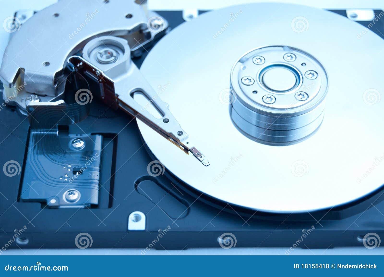 Innerhalb des Computers harddrive