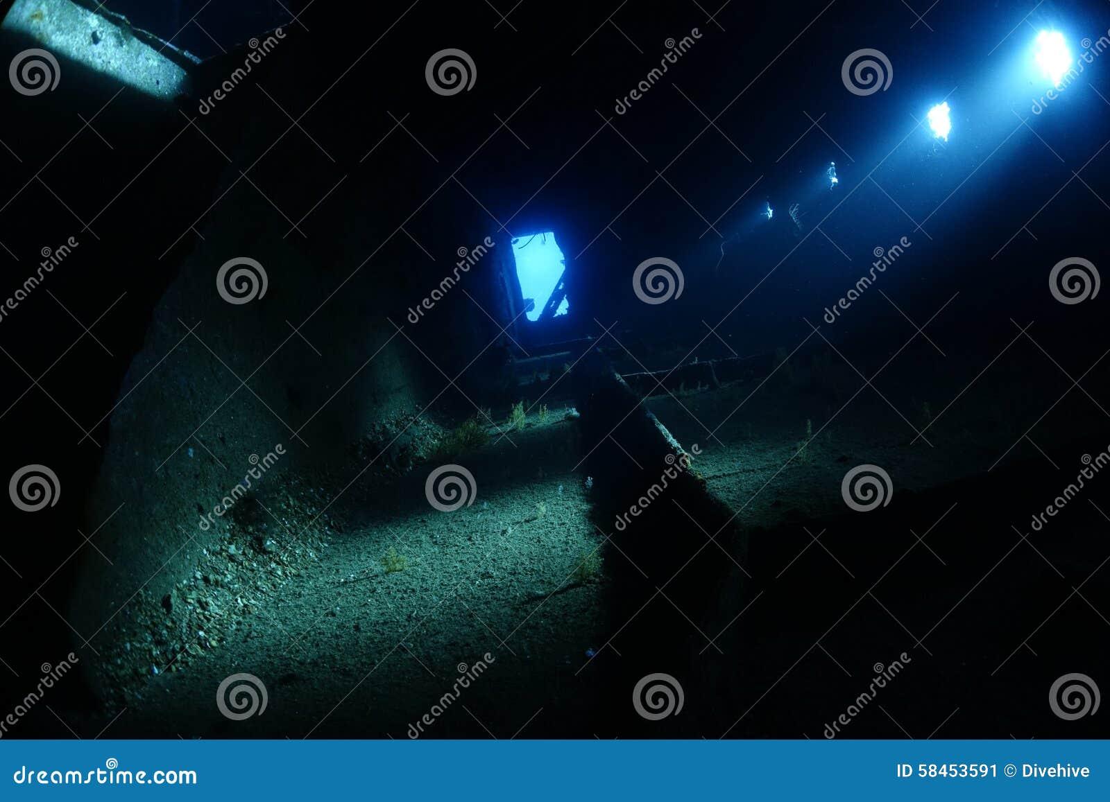 Innerhalb des Wrackes des Ghiannis D im Roten Meer, Ägypten