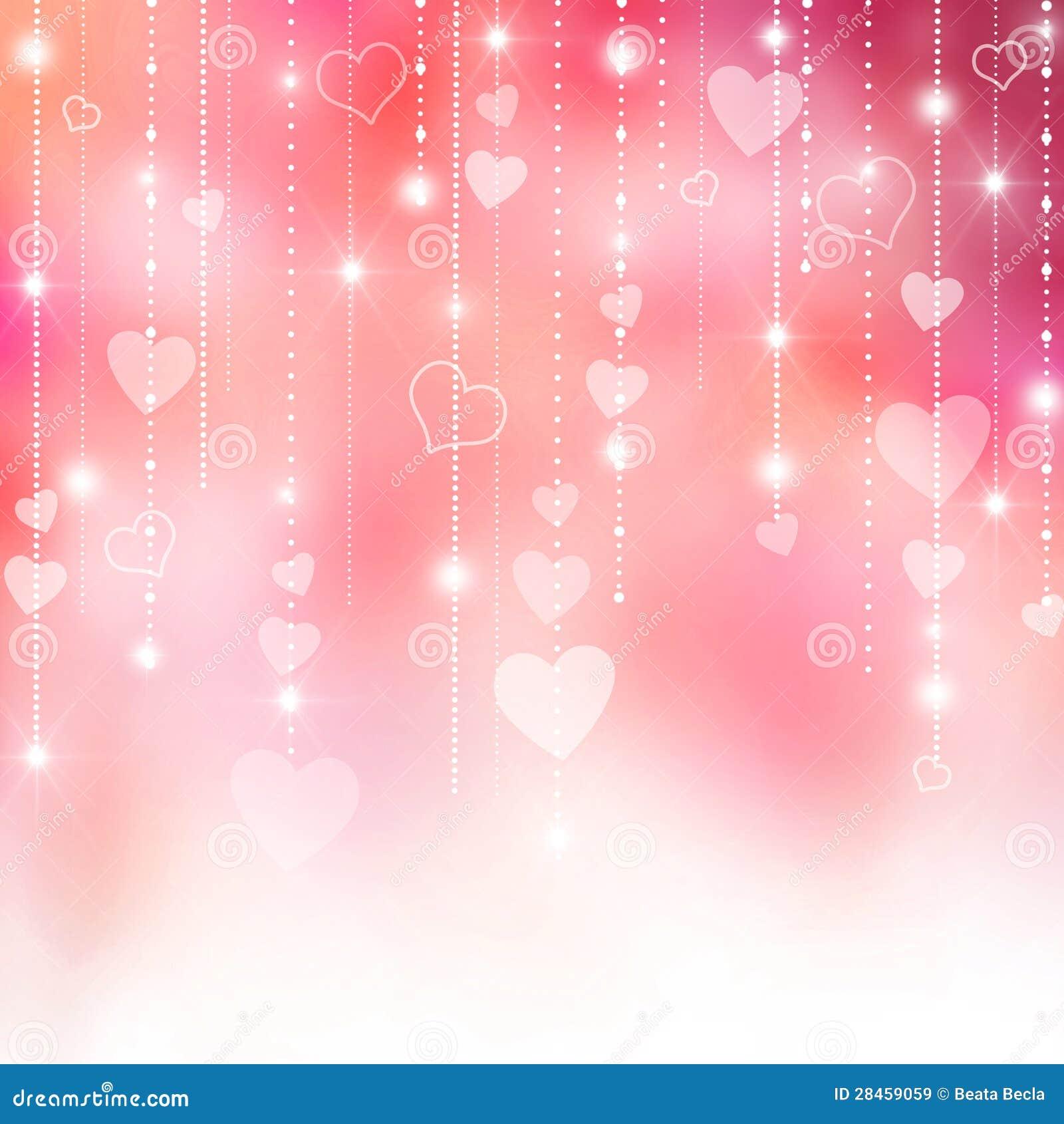 Innerhintergrund des rosa Valentinsgrußes