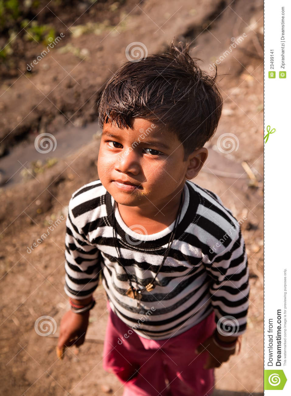 innocent smile of indian child editorial photo image