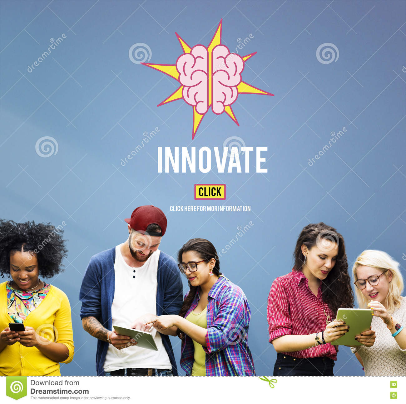 Innovate Create Ideas Aspirations Strategy Concept