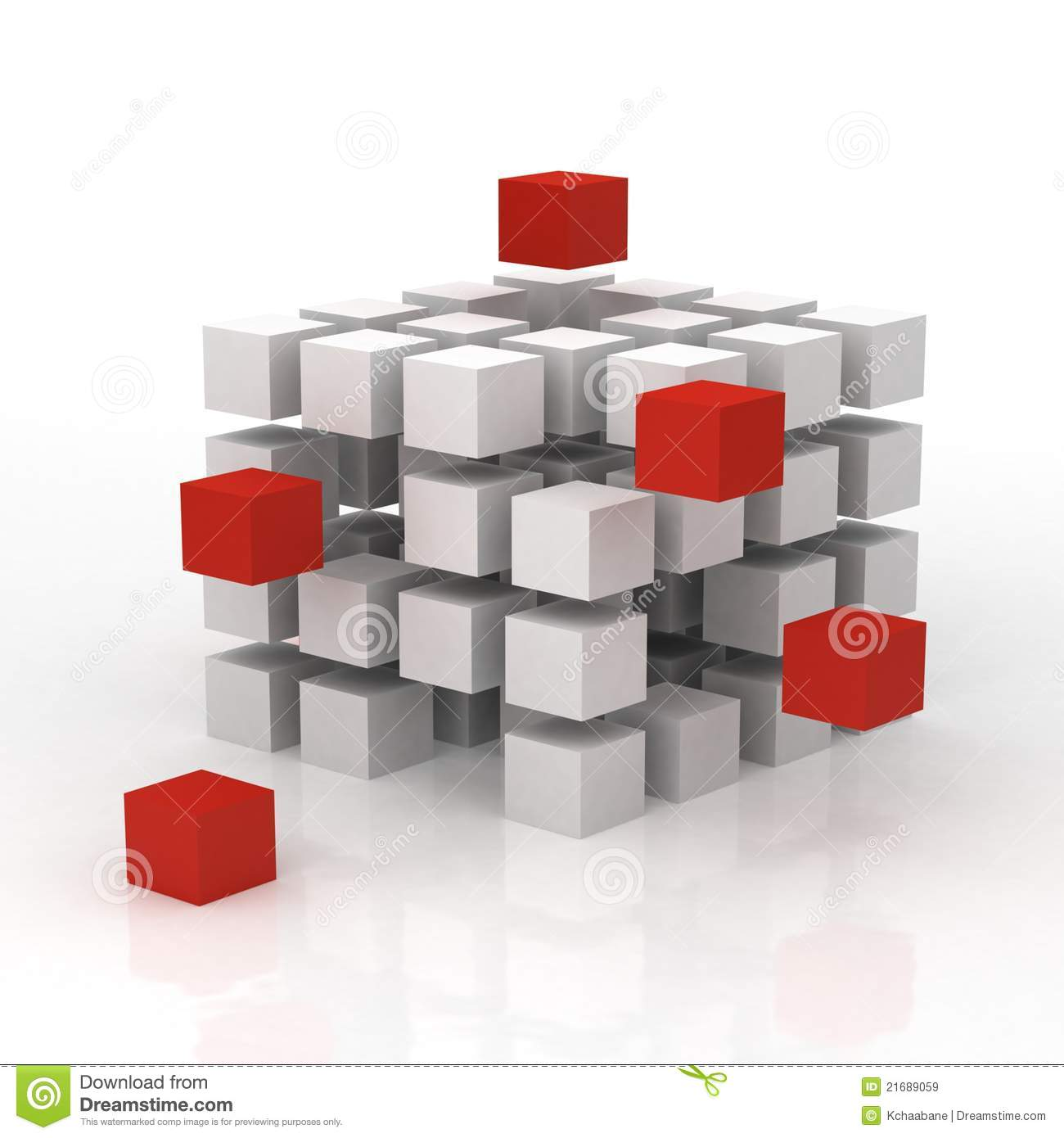 Innovation 3d Cubes Royalty Free Stock Images  Image