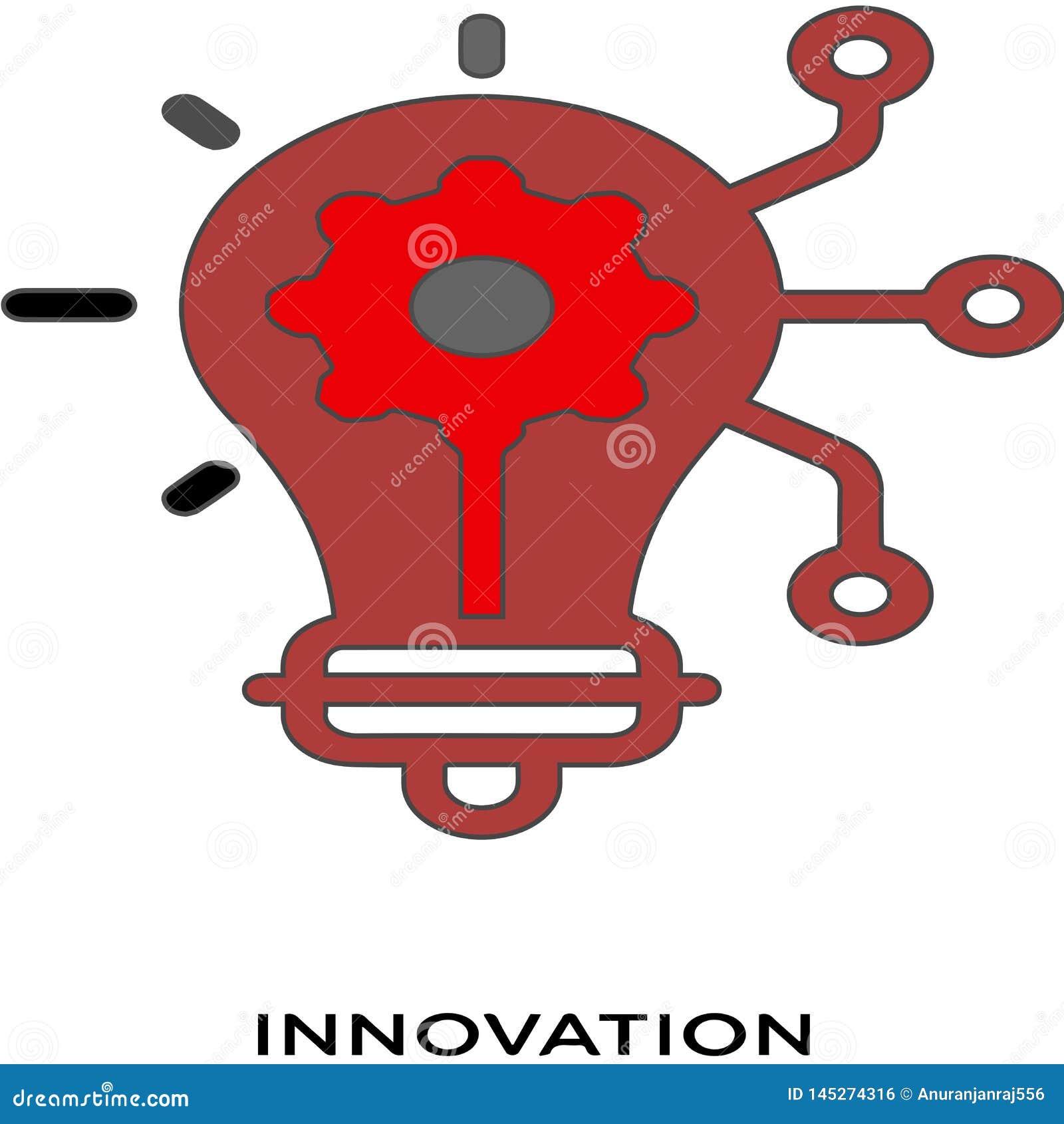 Innovation icon white background simple element illustration marketing concept