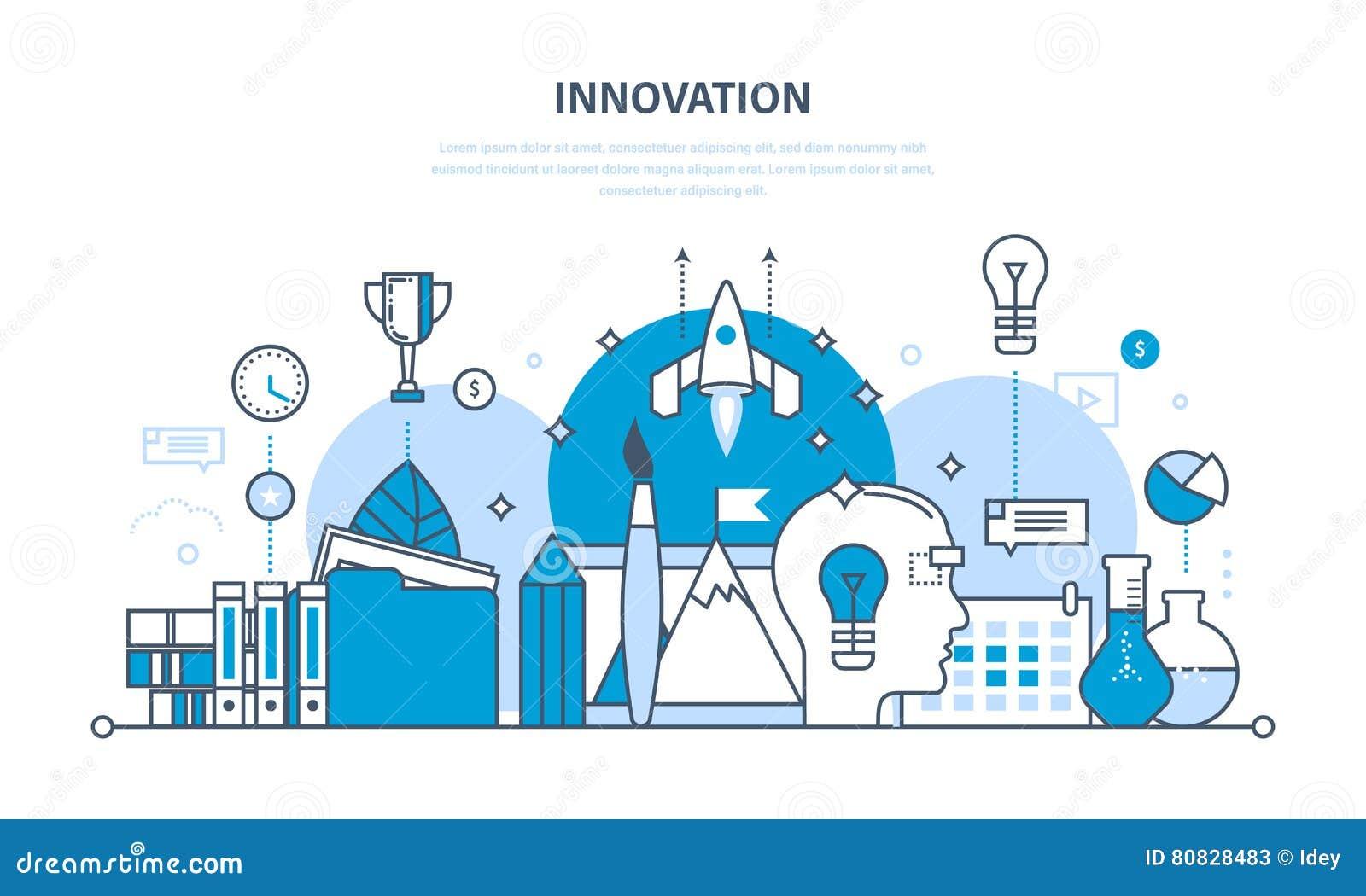 Innovation, idérikt tänka, process, idékläckning, fantasi och vision, forskning