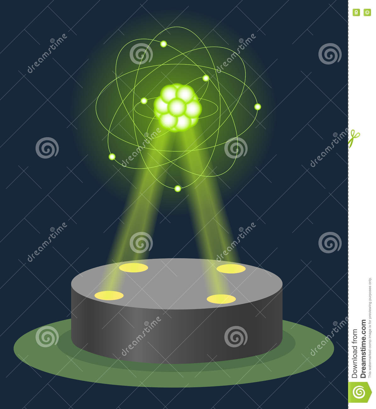 Exploring The Science Of Light 35 Illuminating: Innovation Museum Carbon Atom Structure Hologram On