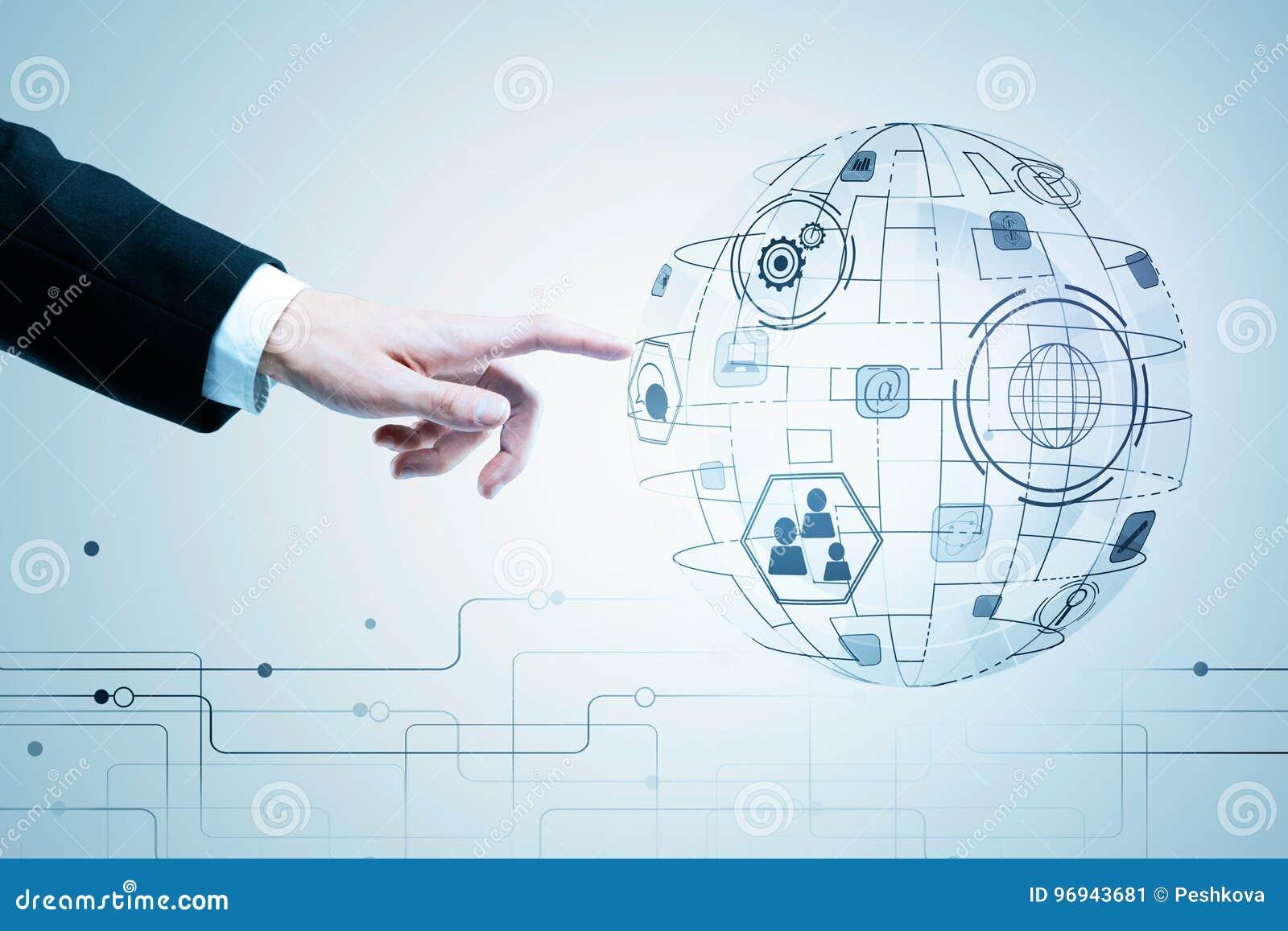 Innovation, télécommunication mondiale et concept d interface