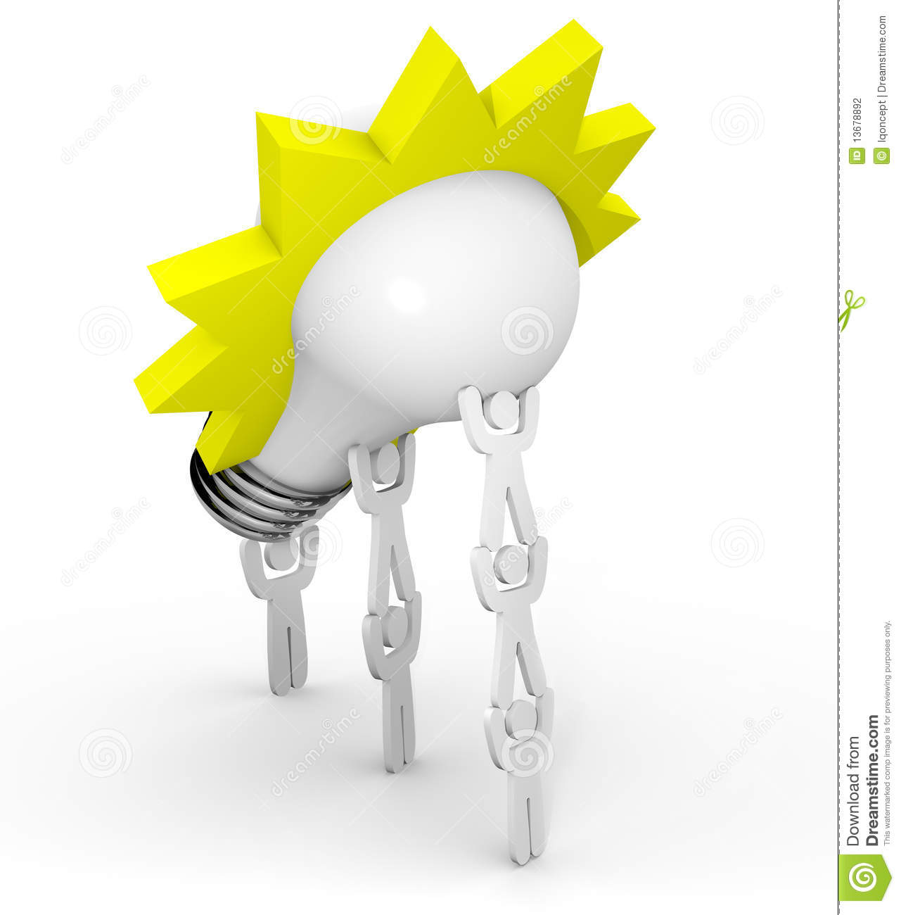 More similar stock images of ` Innovation - Team Lifting Light Bulb `