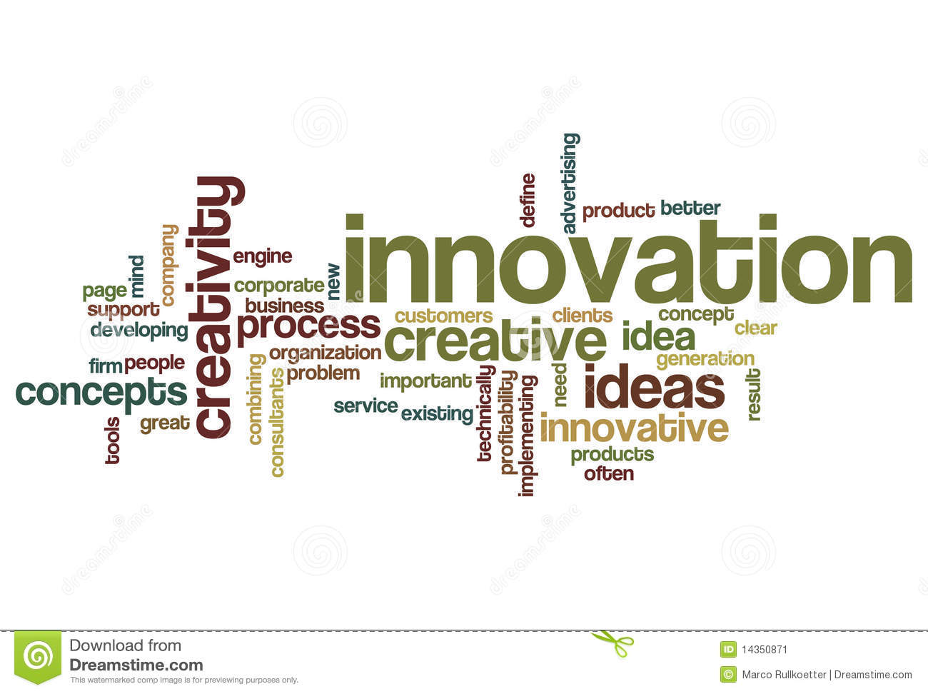Innovation word cloud stock illustration image of for Innovative product development companies
