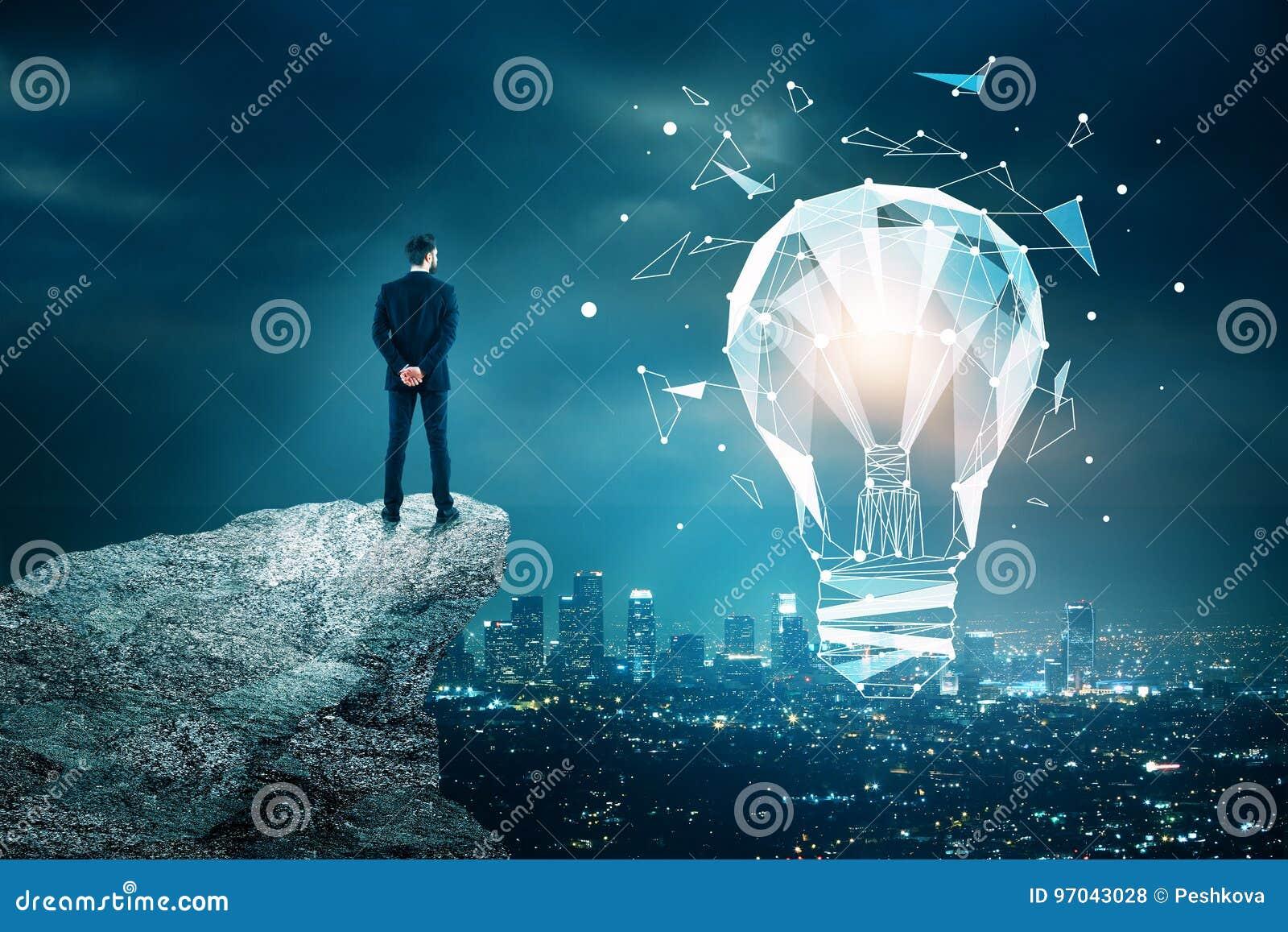 Innovations-, Technologie- und Ideenkonzept