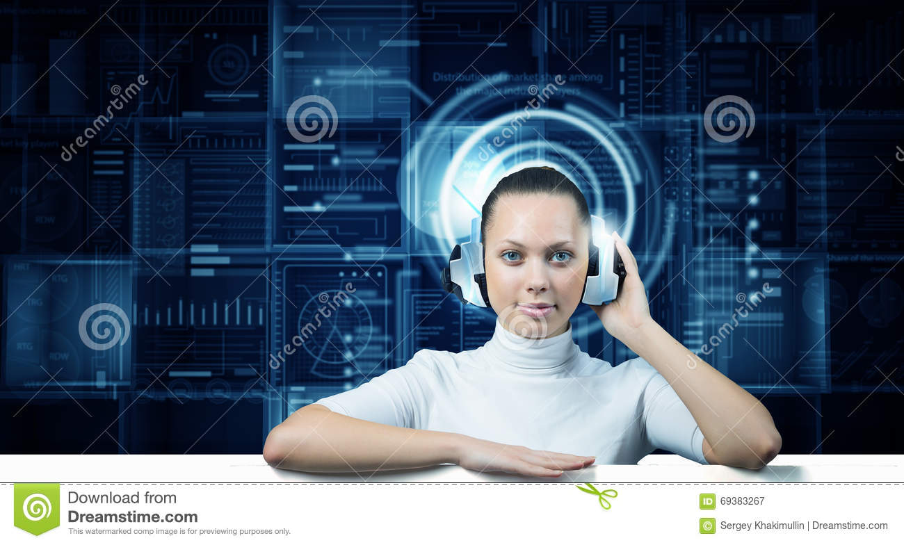 Technology Management Image: Innovative Media Technologies Stock Image
