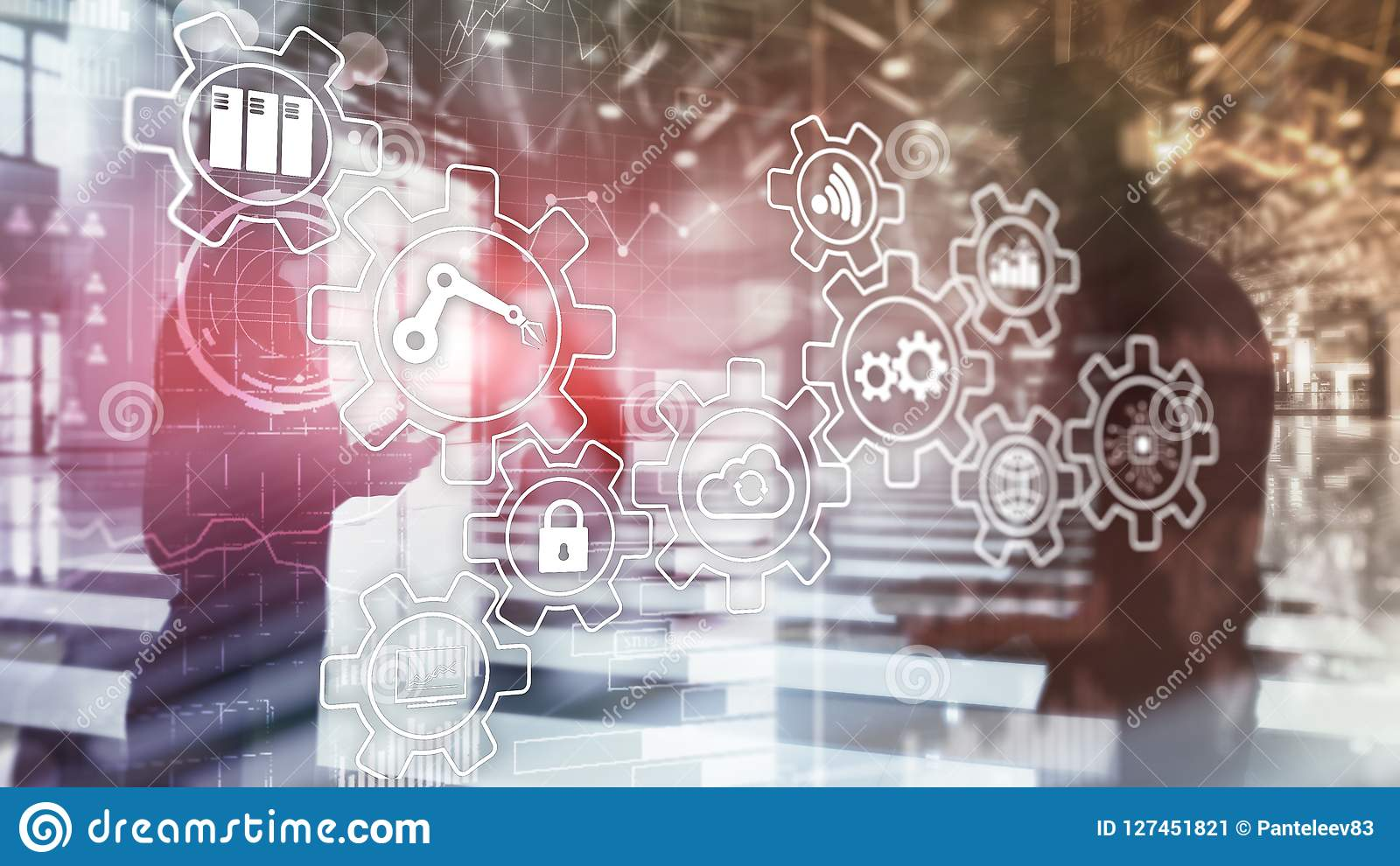 Innovazione e automazione di processi di tecnologia Industria astuta 4