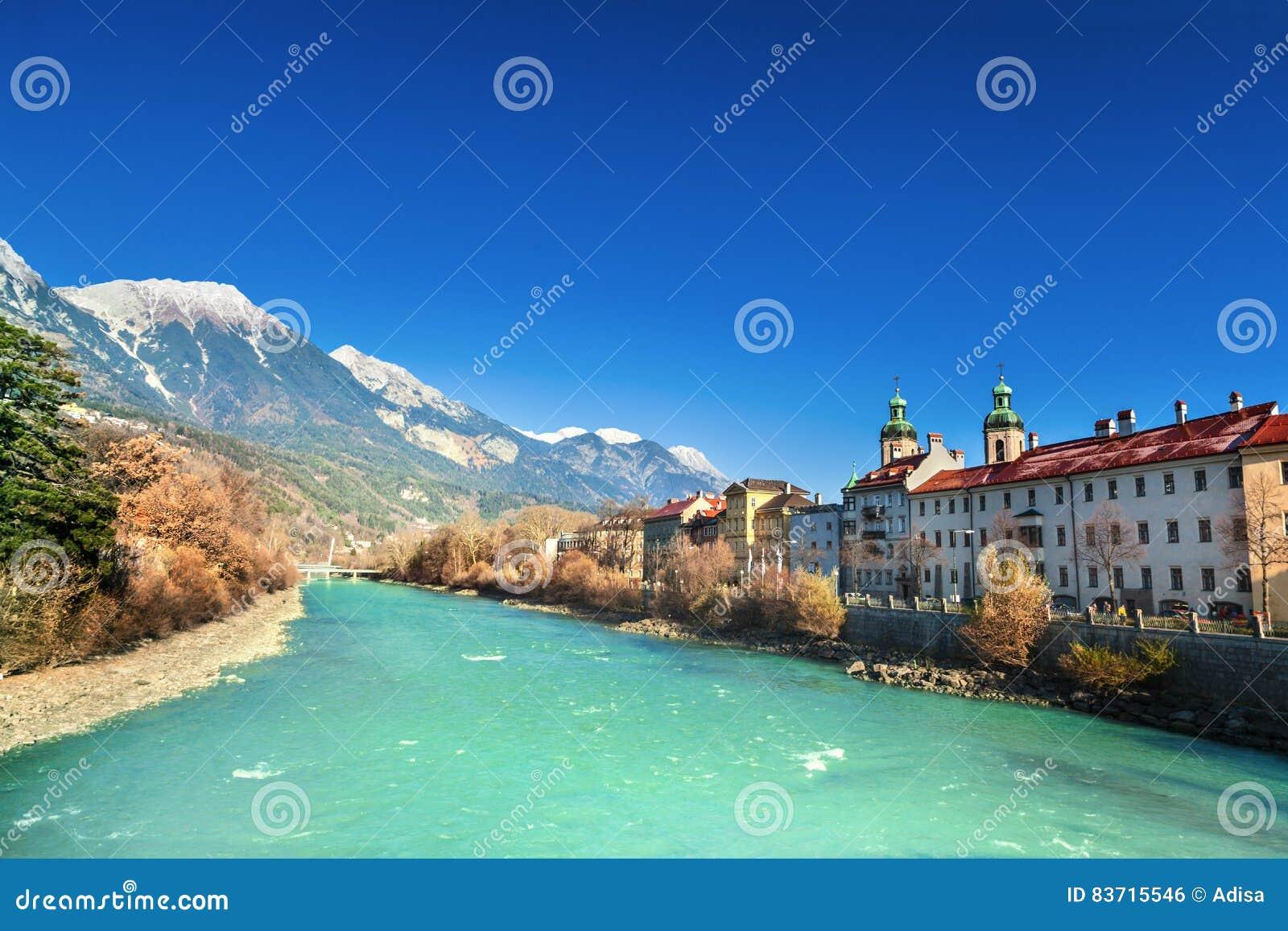 Innsbruck Cityscape, Austria Stock Photo