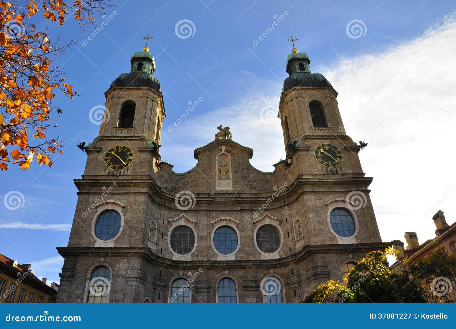 Download Innsbruck katedra obraz stock. Obraz złożonej z innsbruck - 37081227