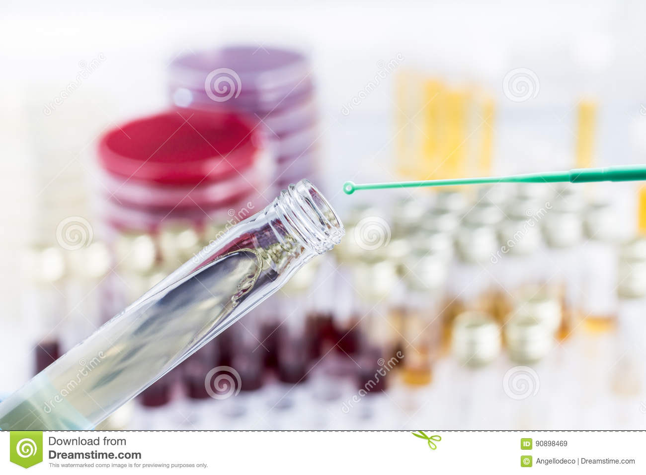 Inoculation Of Sample In Culture Medium In Tube Stock Image - Image ... for Inoculation Microbiology  579cpg