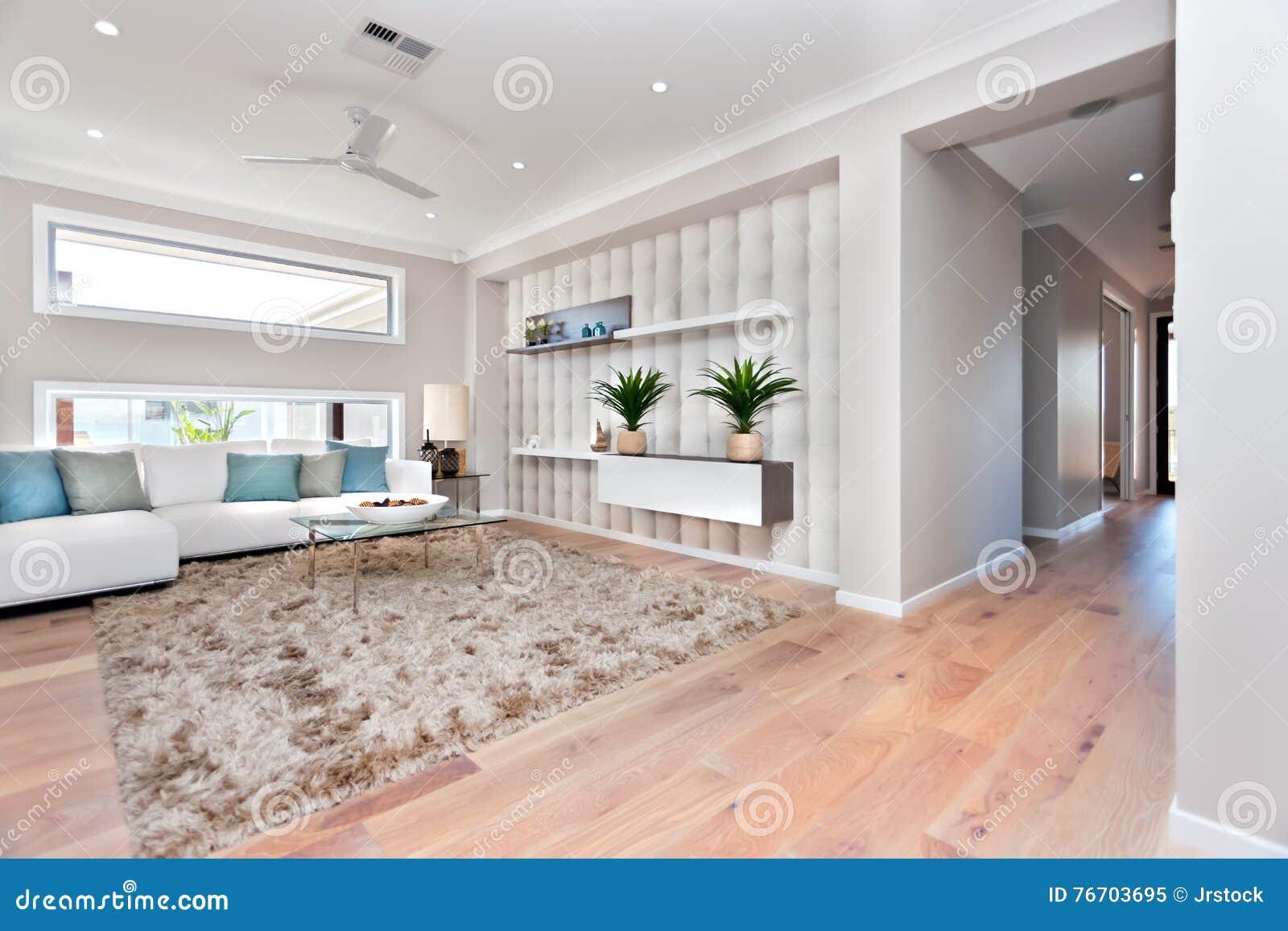 Inom av en modern vardagsrum