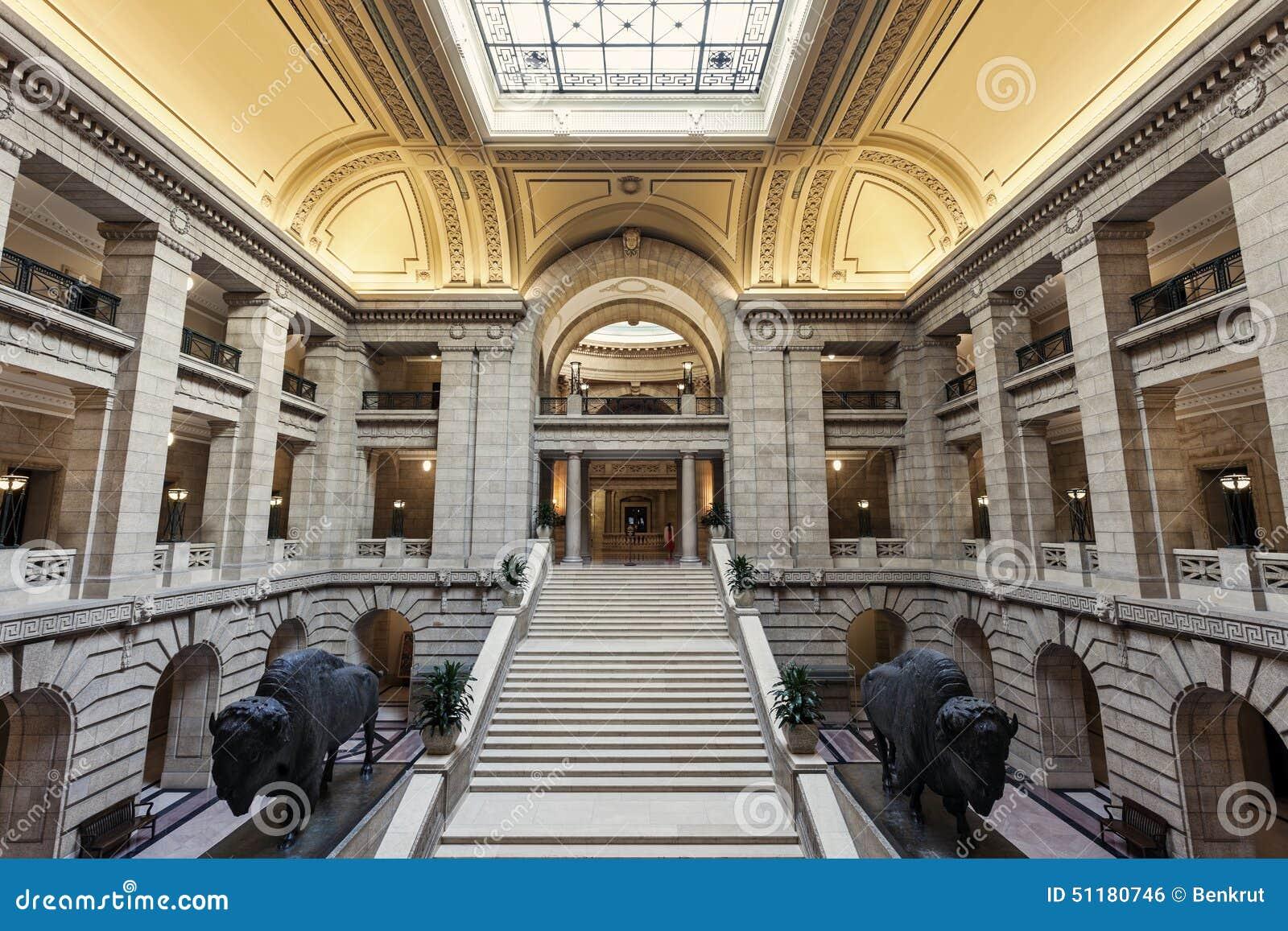 Inom Manitoba lagstiftnings- byggnad i Winnipeg