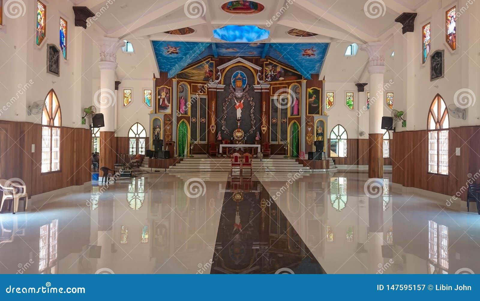 Inom sikt av en latinsk katolsk kyrka i Indien