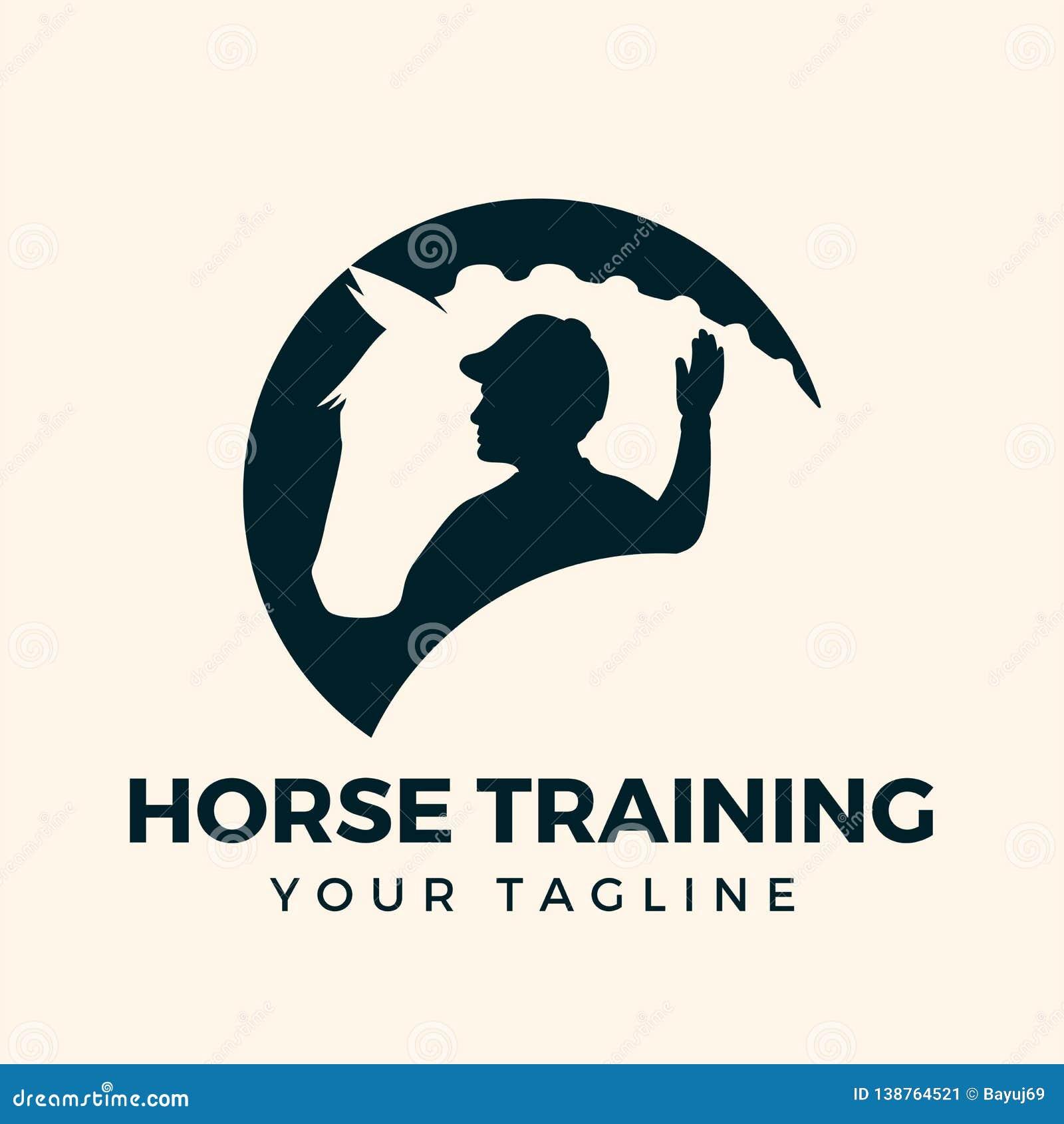 Inpiration de formação do projeto do logotipo do cavalo