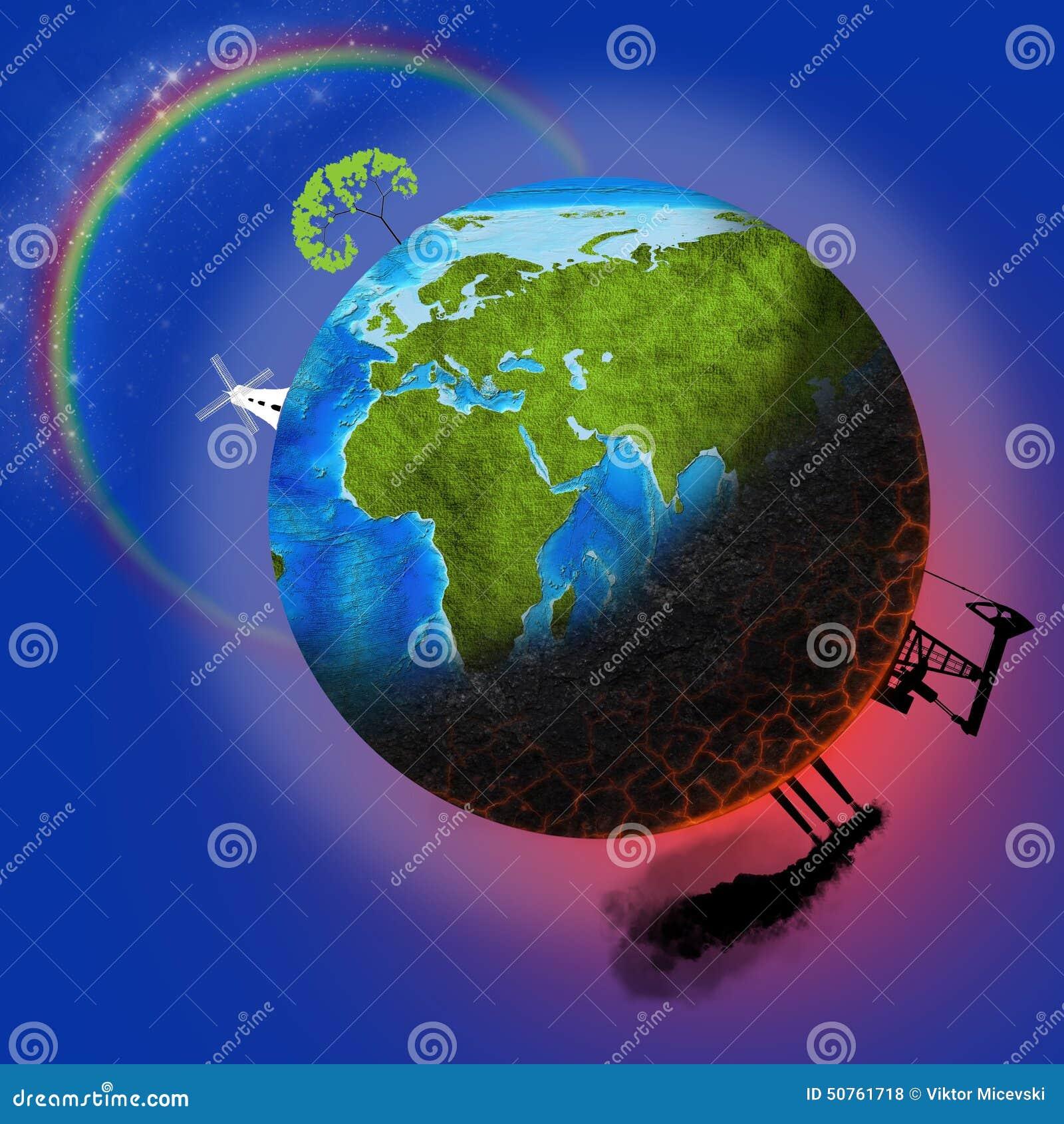 Inquinamento della terra fotografia stock immagine di - Immagine da colorare della terra ...