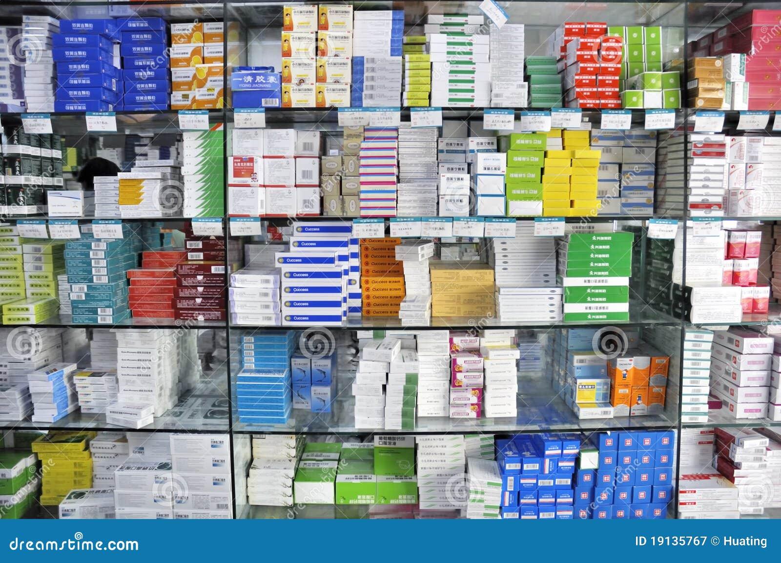 Inre apotek shoppar