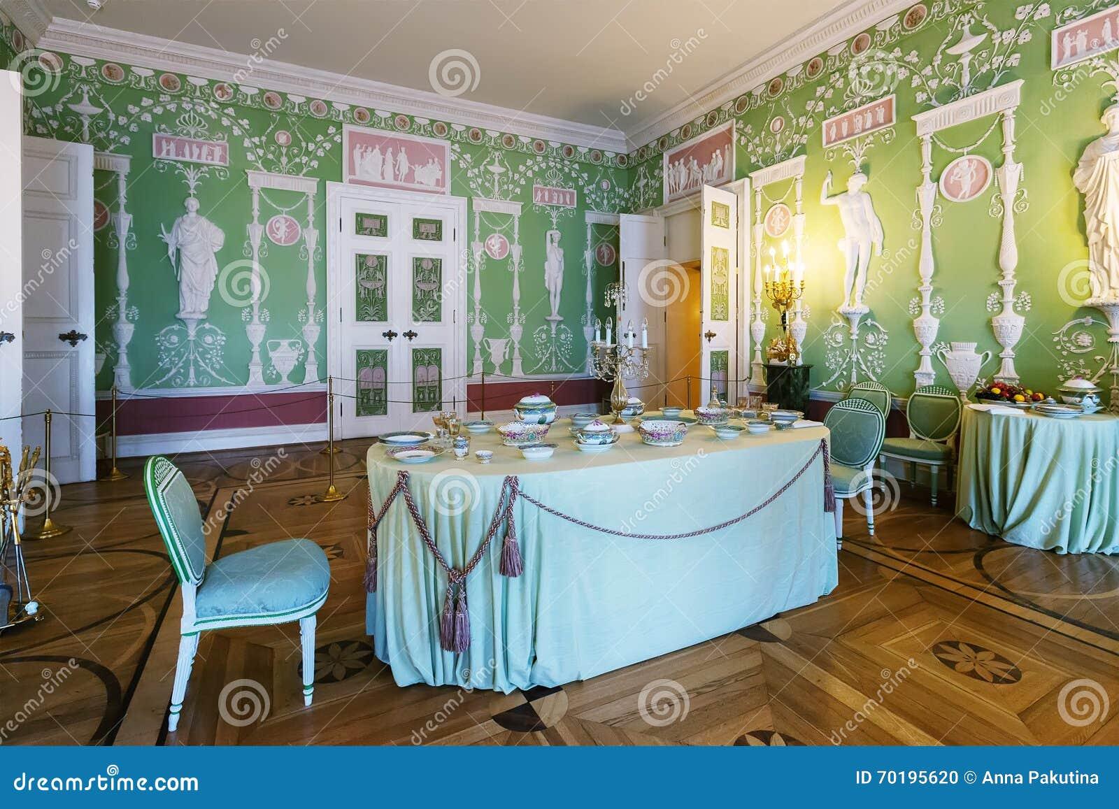 Inre av Catherine Palace i Tsarskoye Selo (Pushkin), St