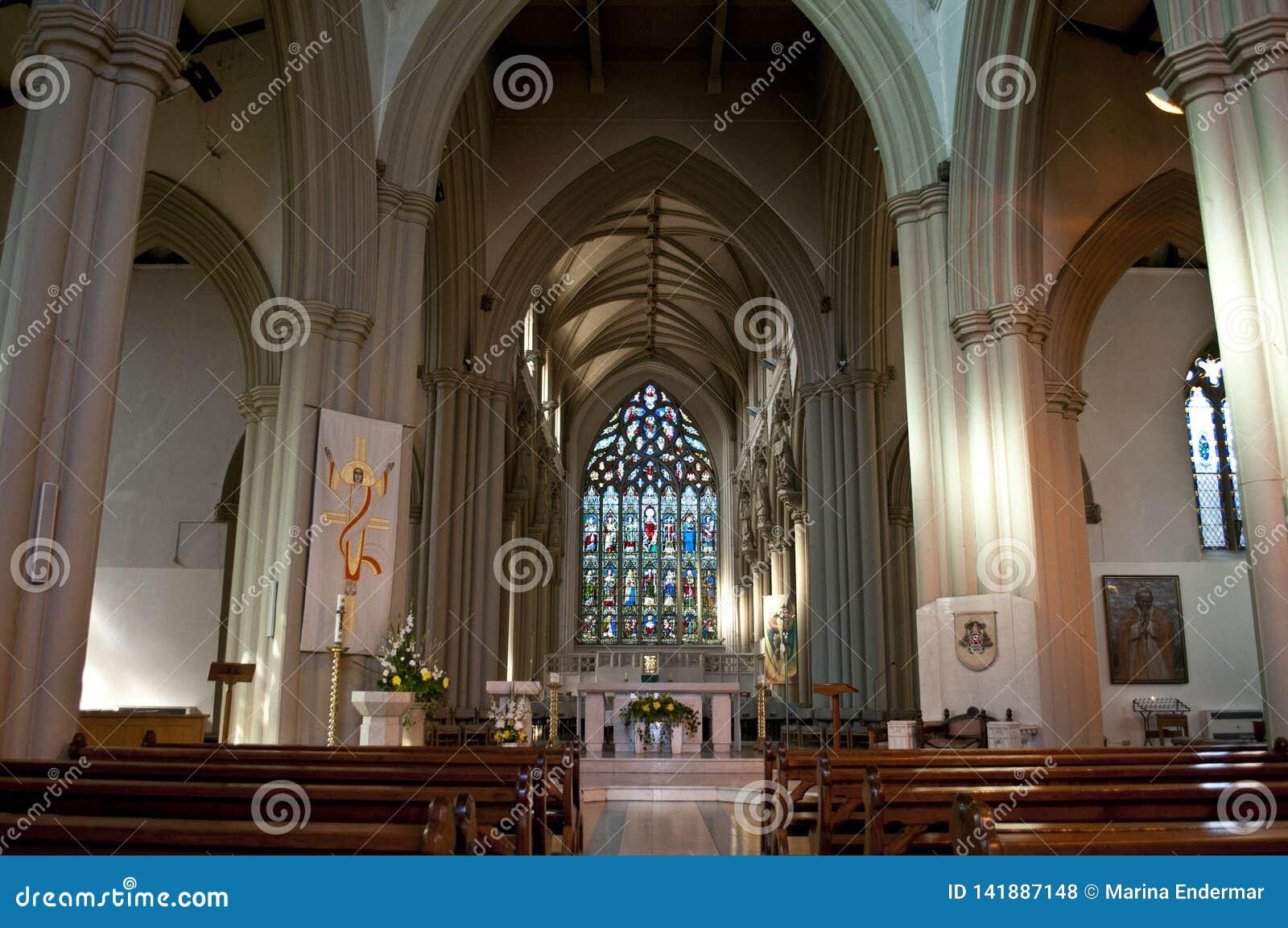 Inre av den Salford domkyrkan, större Manchester, UK