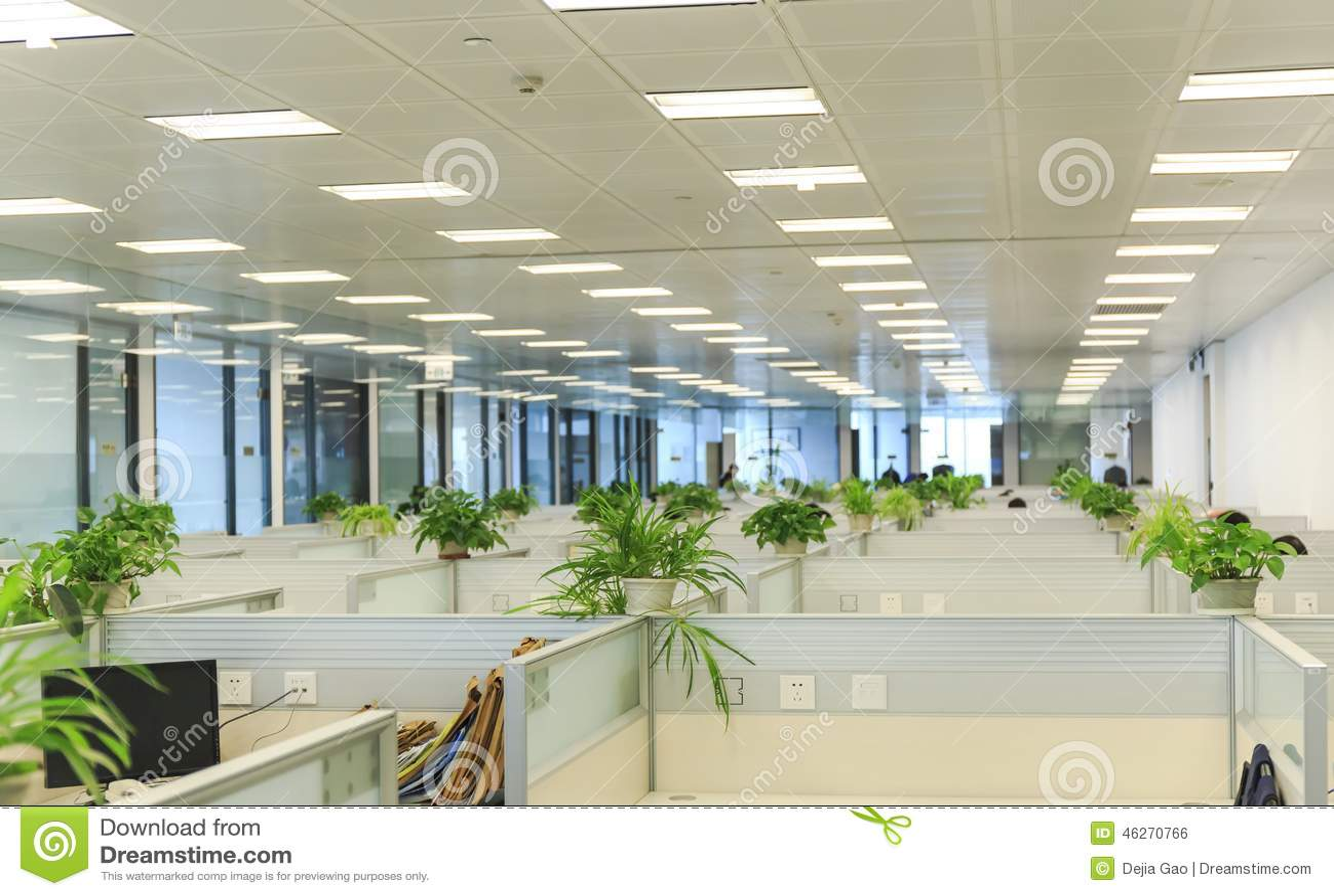 Inre av det moderna kontoret, arbetsställe