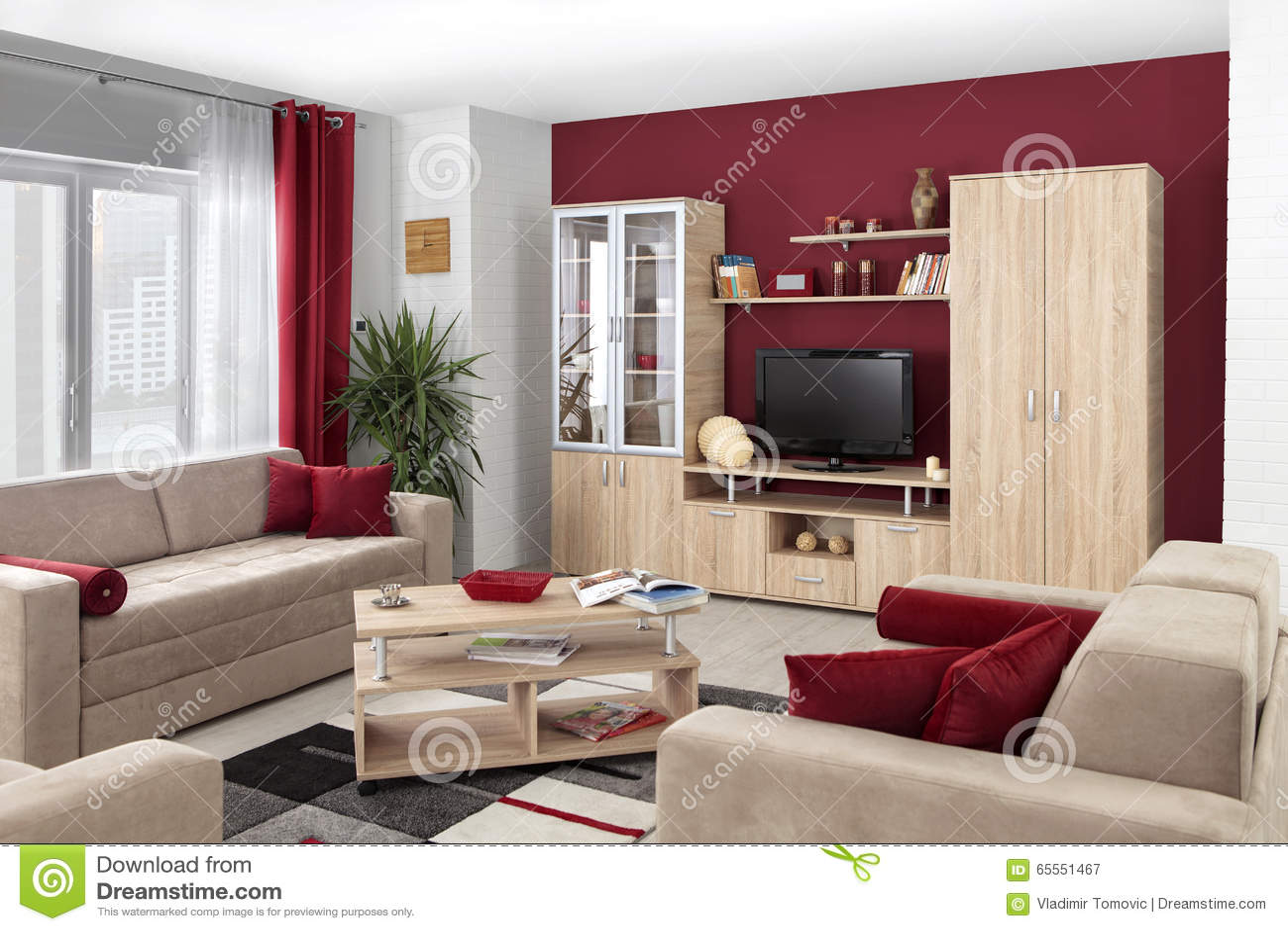 #82A328 Inre Av En Modern Vardagsrum I Färg Arkivfoto Bild: 65551467 1300x957 píxeis em Cores Modernas Para Sala De Estar 2015