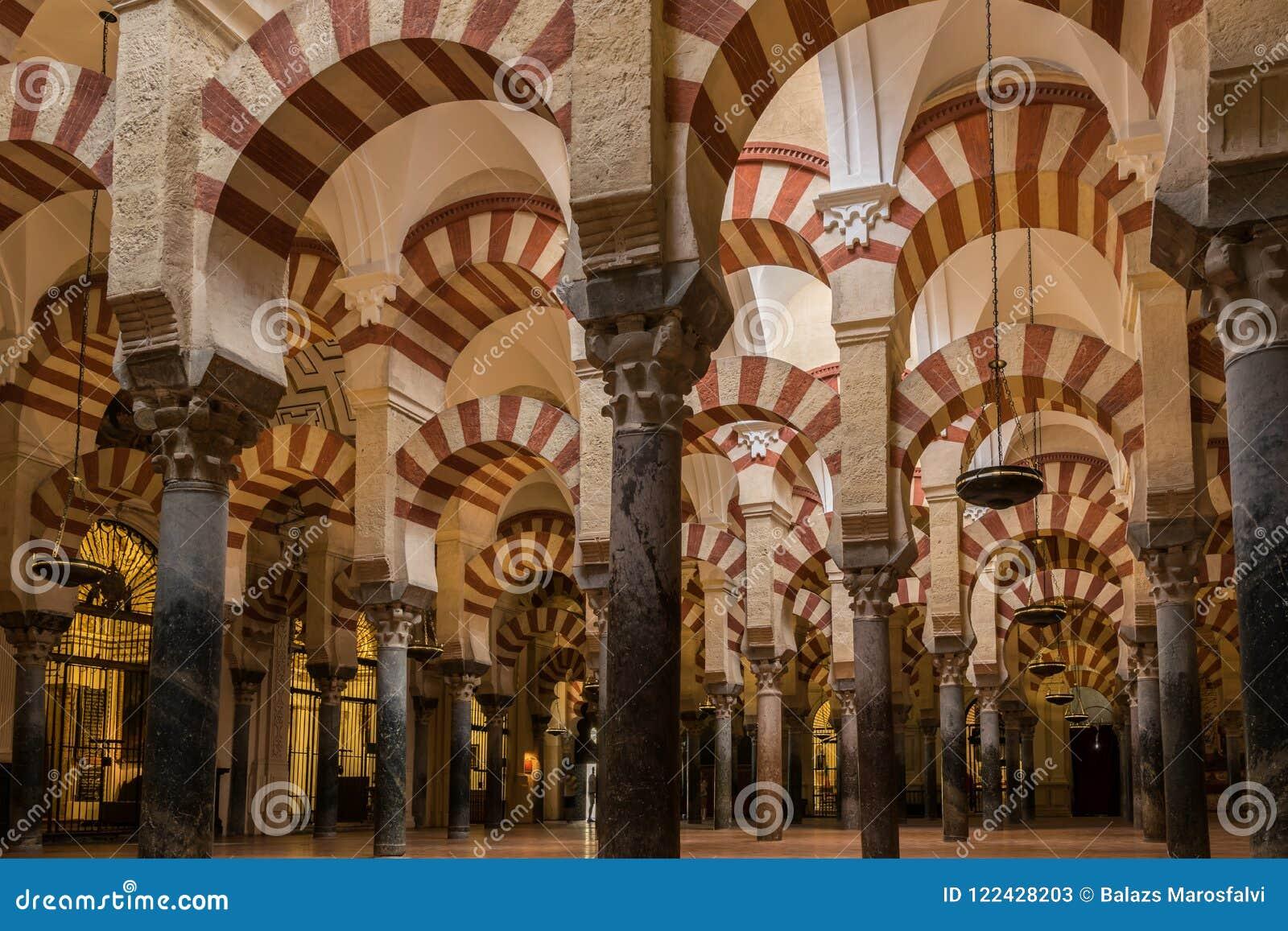 Inre av Mezquita-domkyrkan, Cordoba, Andalusia, Spanien