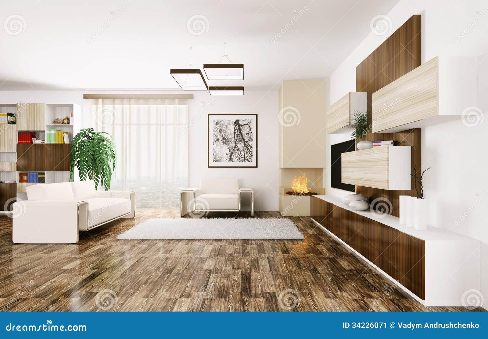 Inre av modern vardagsrum 3d fotografering för bildbyråer   bild ...