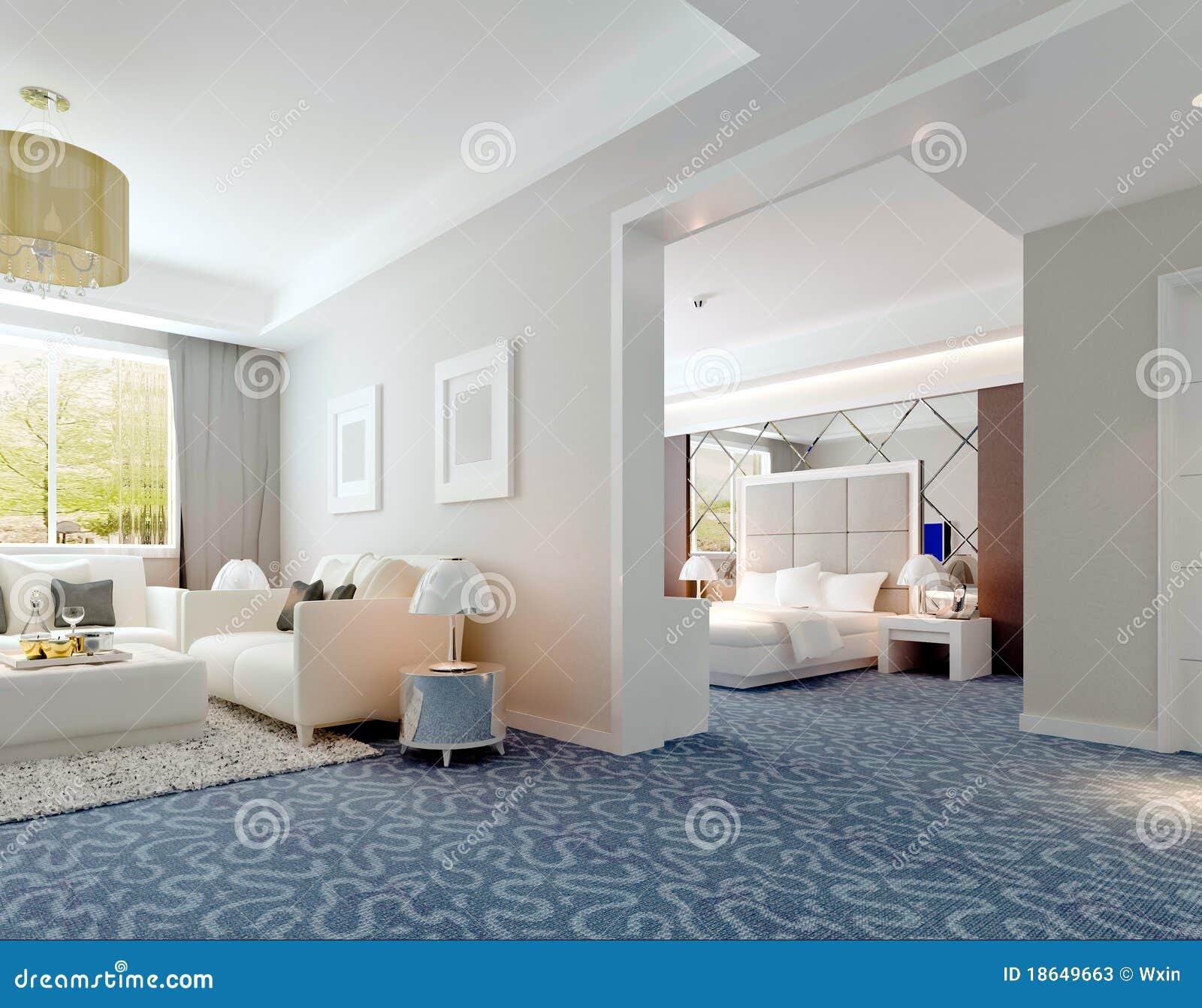 Inre framförandefölje för deluxe hotell 3d
