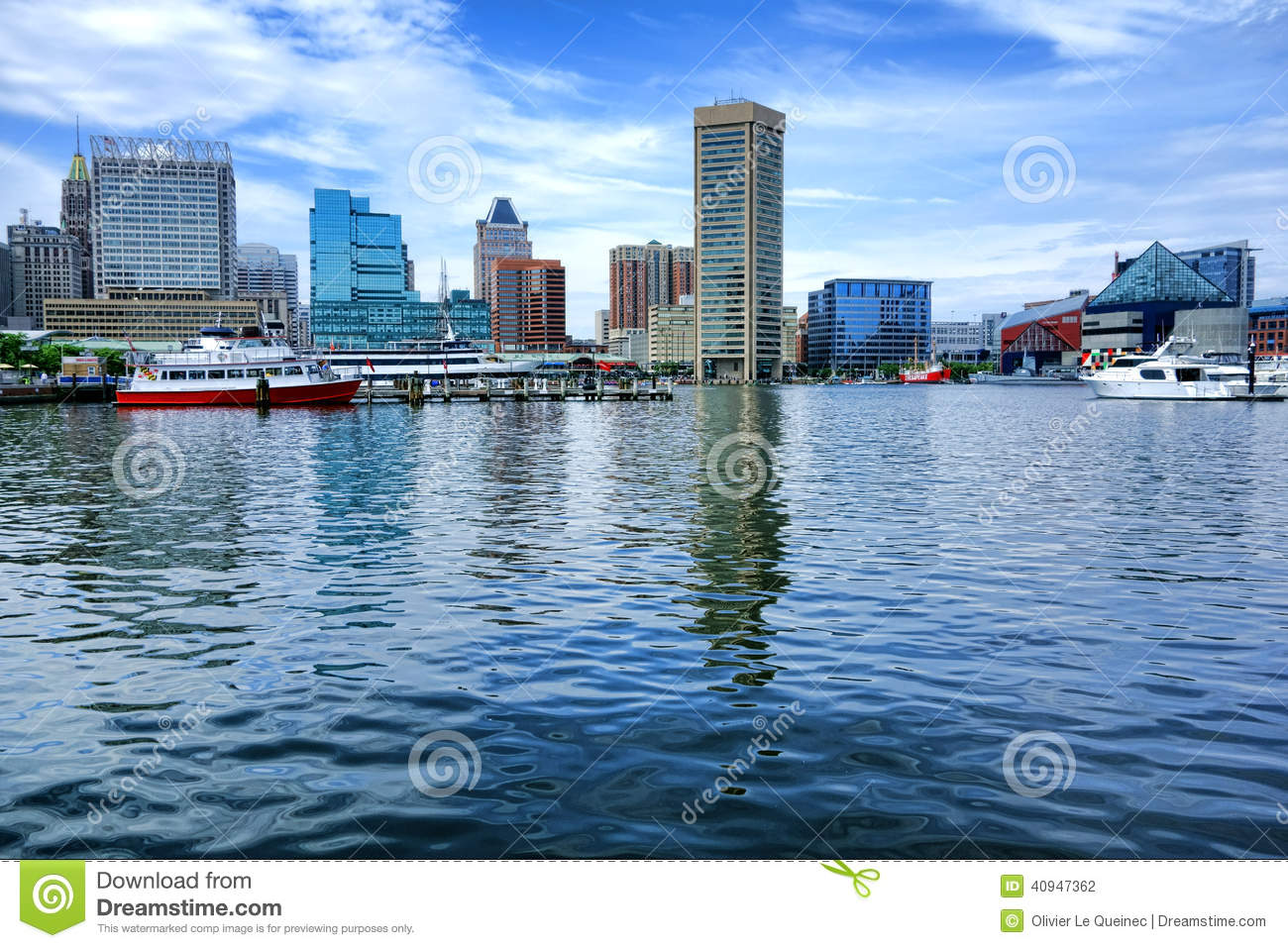 Inre hamnvattensikt i Baltimore Maryland