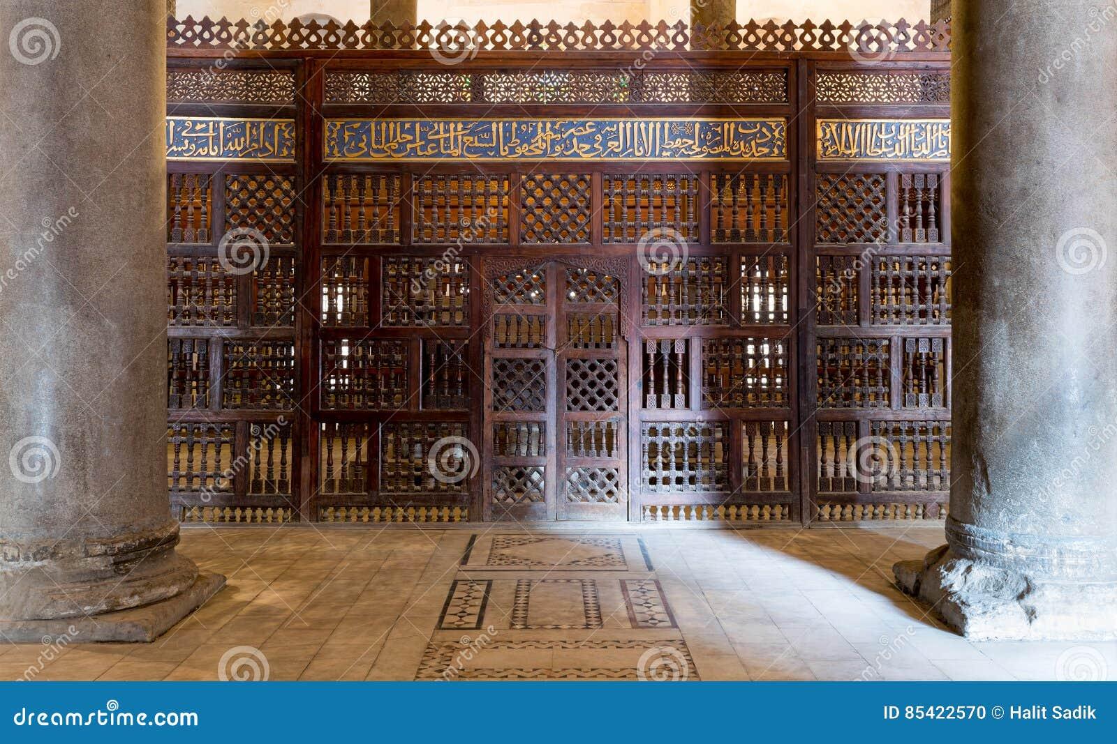 Inre mausoleet av Sultan Qalawun, gammal Kairo, Egypten