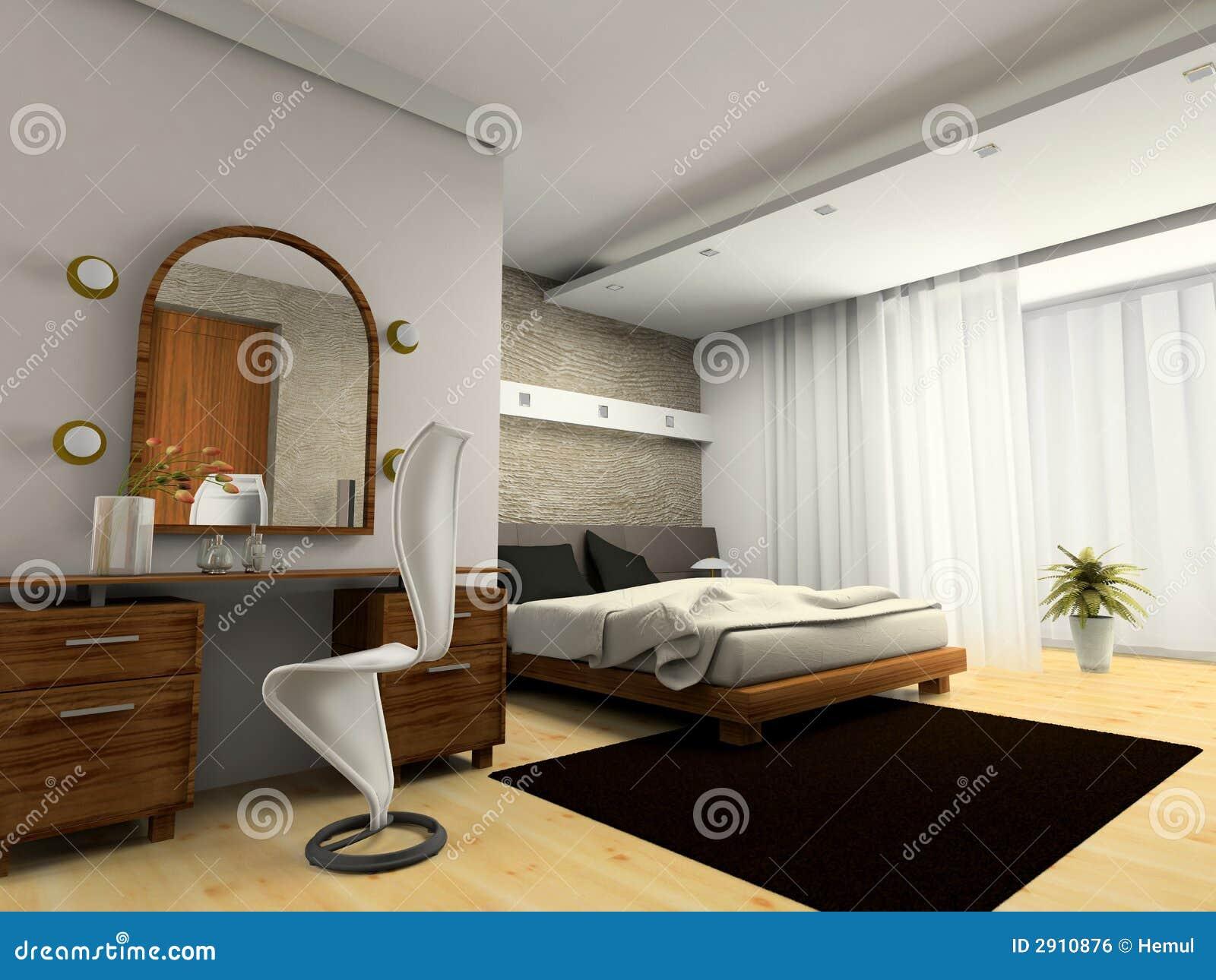Inre modernt för sovrum royaltyfri bild   bild: 2910876