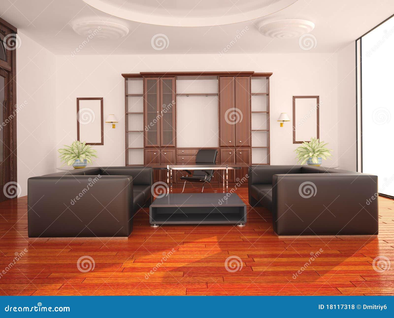Inre modernt kontor