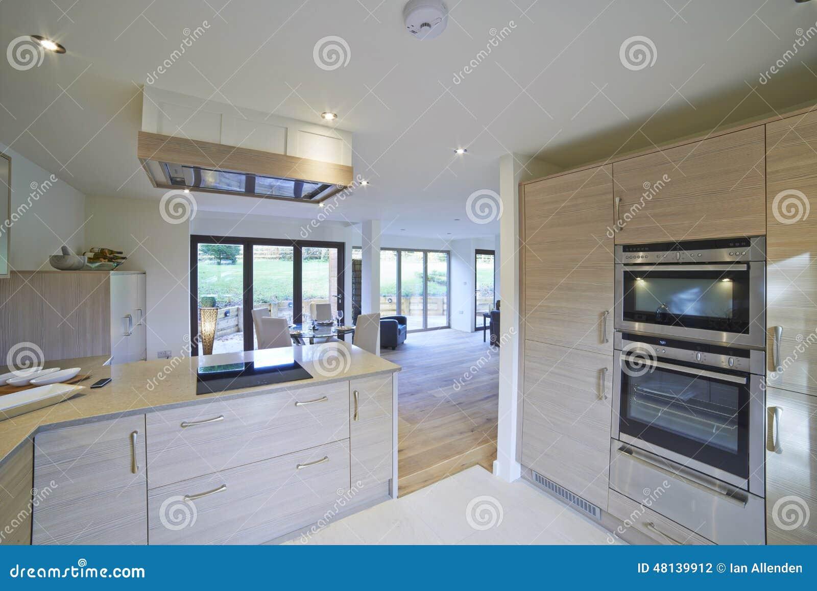 Inre sikt av härlig lyxig matsal och kök arkivfoto   bild: 48139912