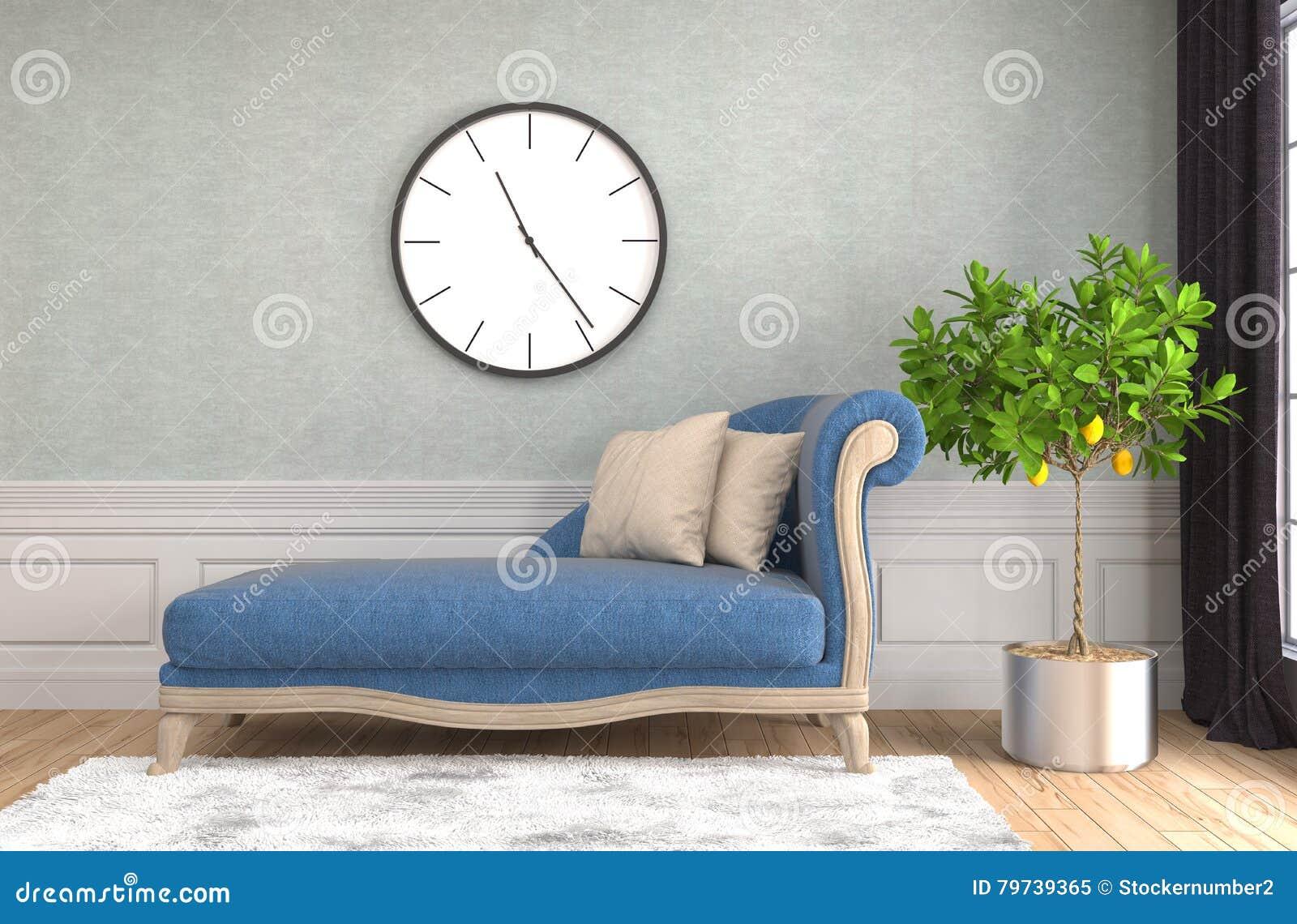 Inre sofa illustration 3d