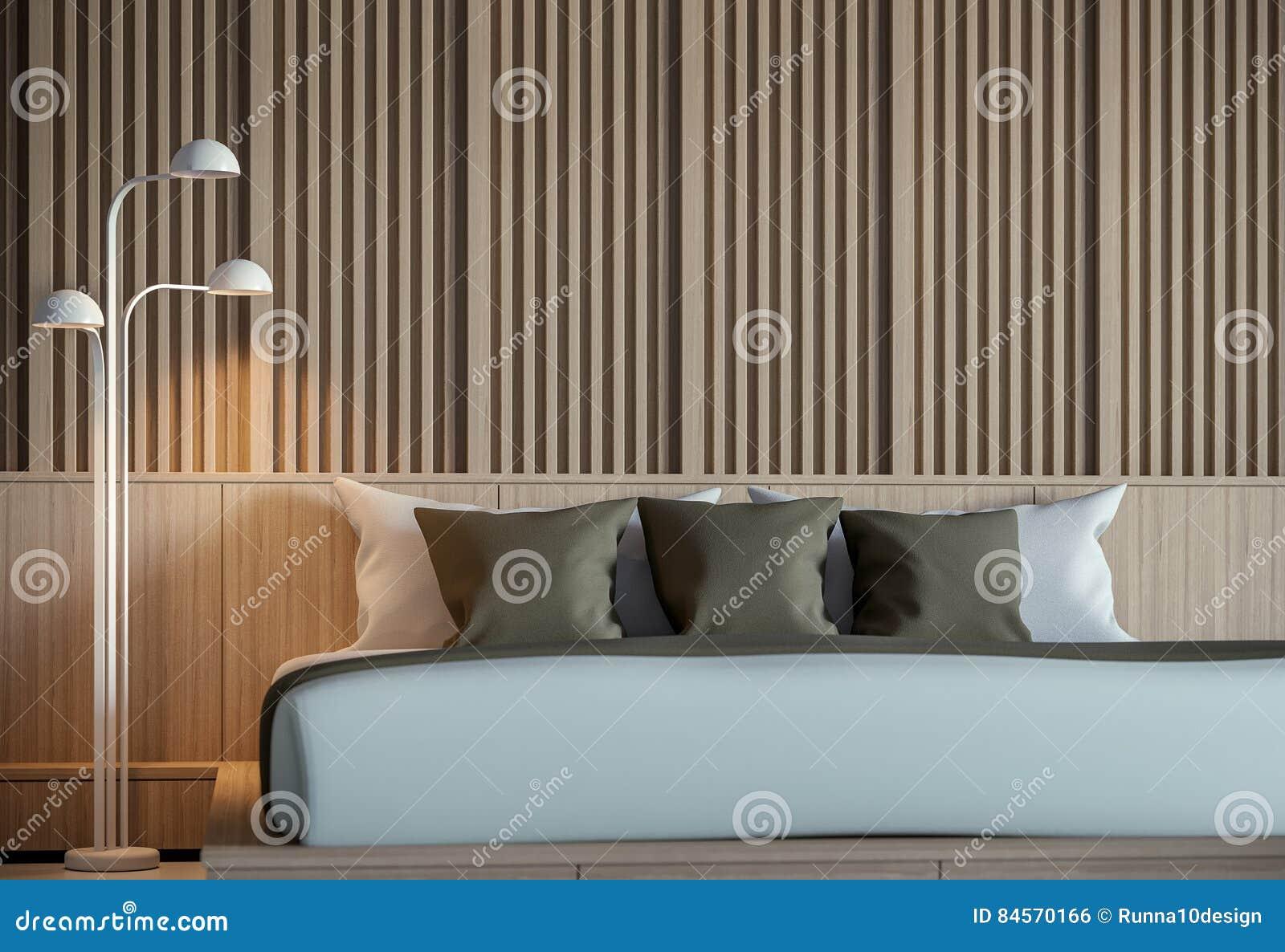 Inre tolkning 3D för modernt fridsamt sovrum