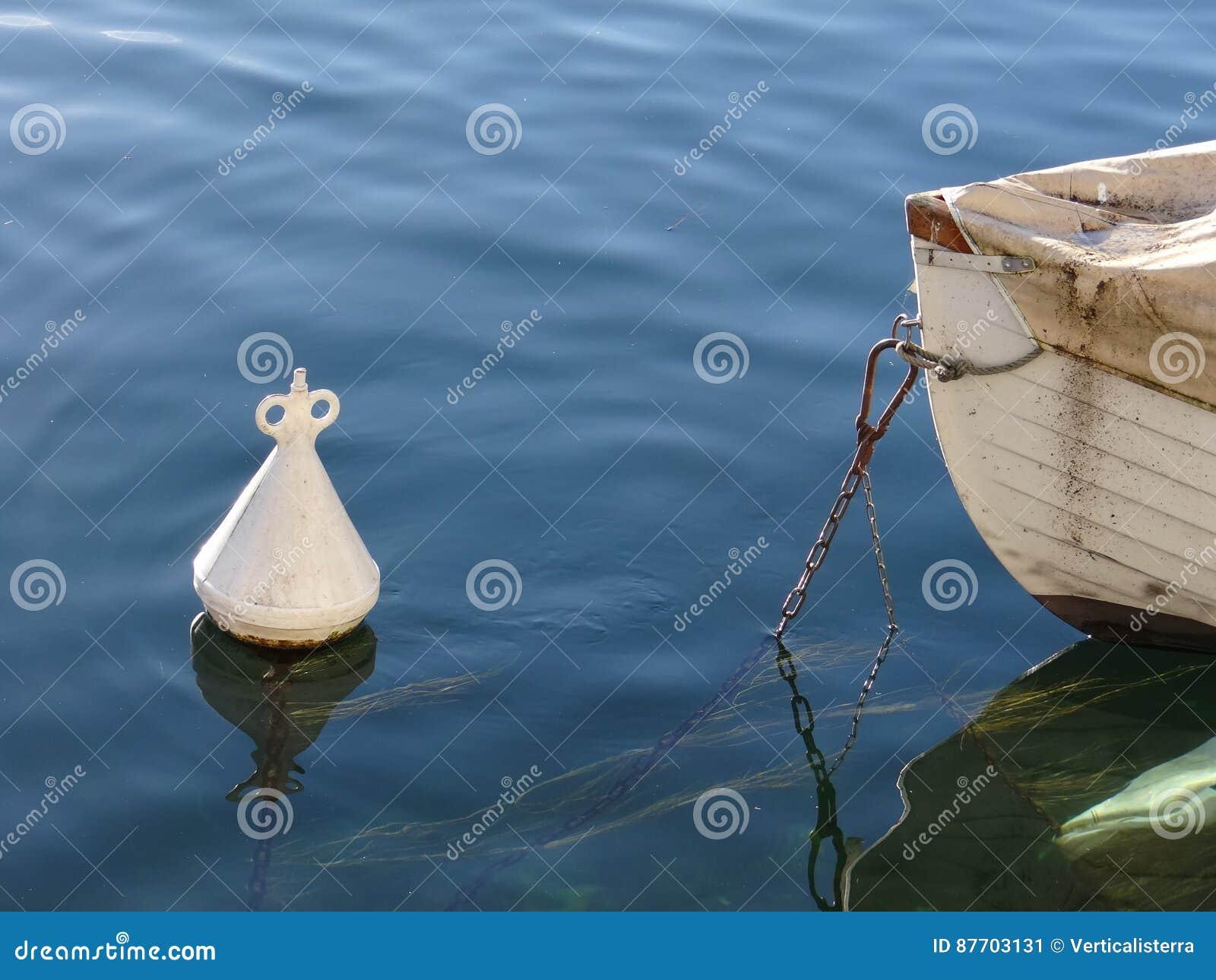 Inséparable le tête à tête de la proue du bateau à sa balise
