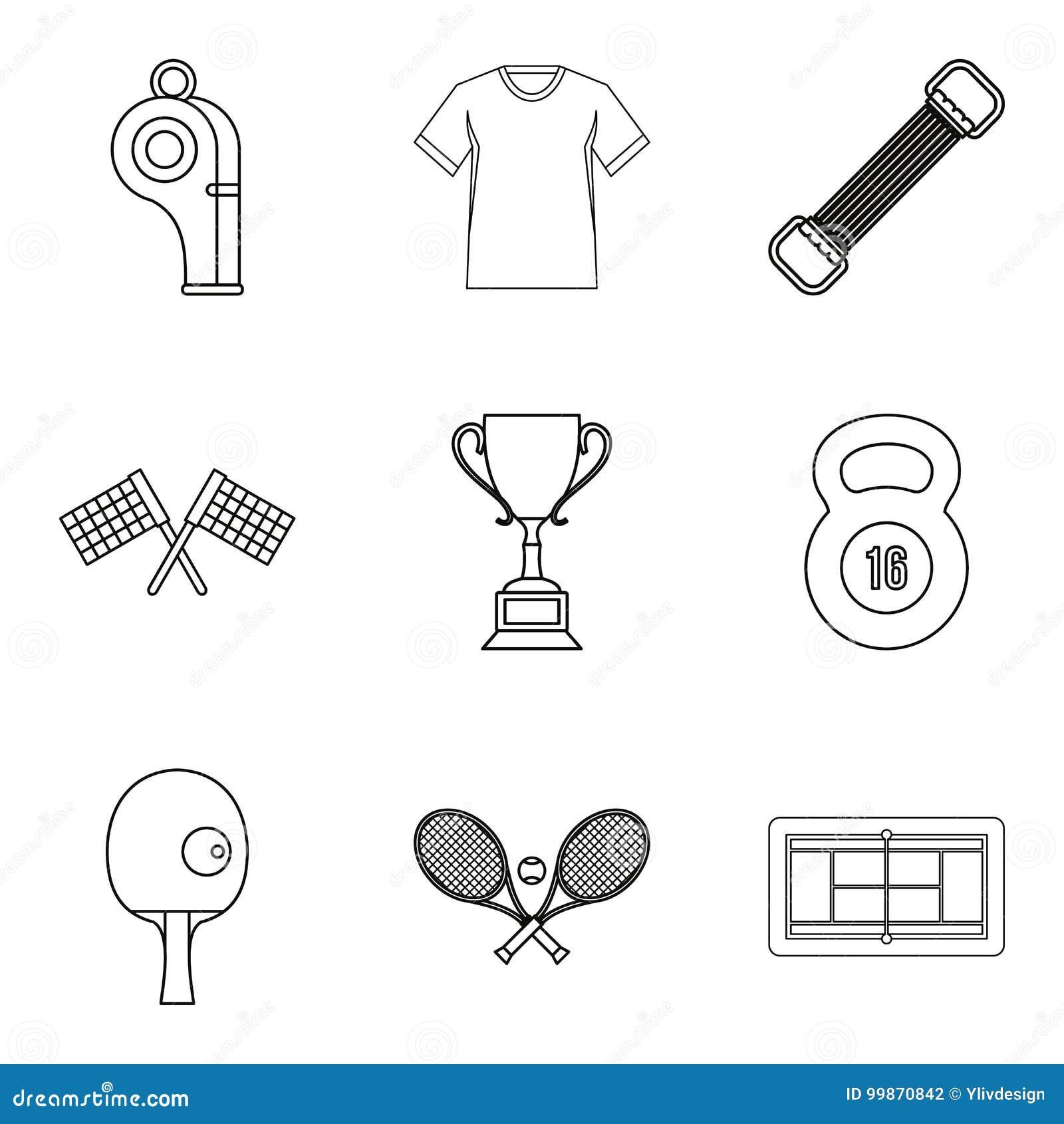 A insígnia real de ícones do vencedor ajustou, esboçou o estilo