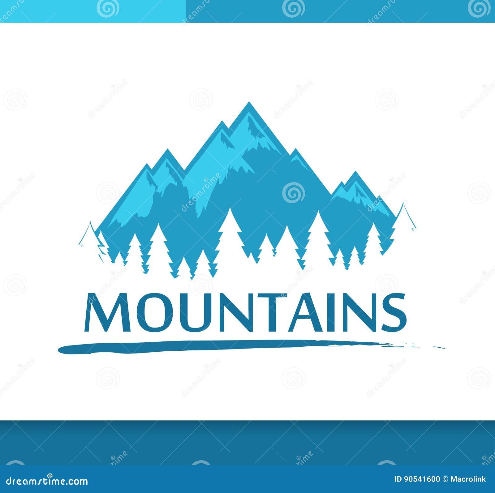 Insígnias com montanhas e floresta