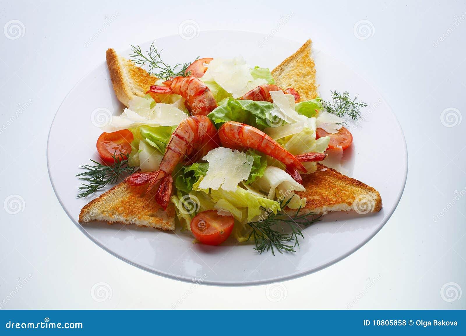 Insalata del gambero del parmigiano