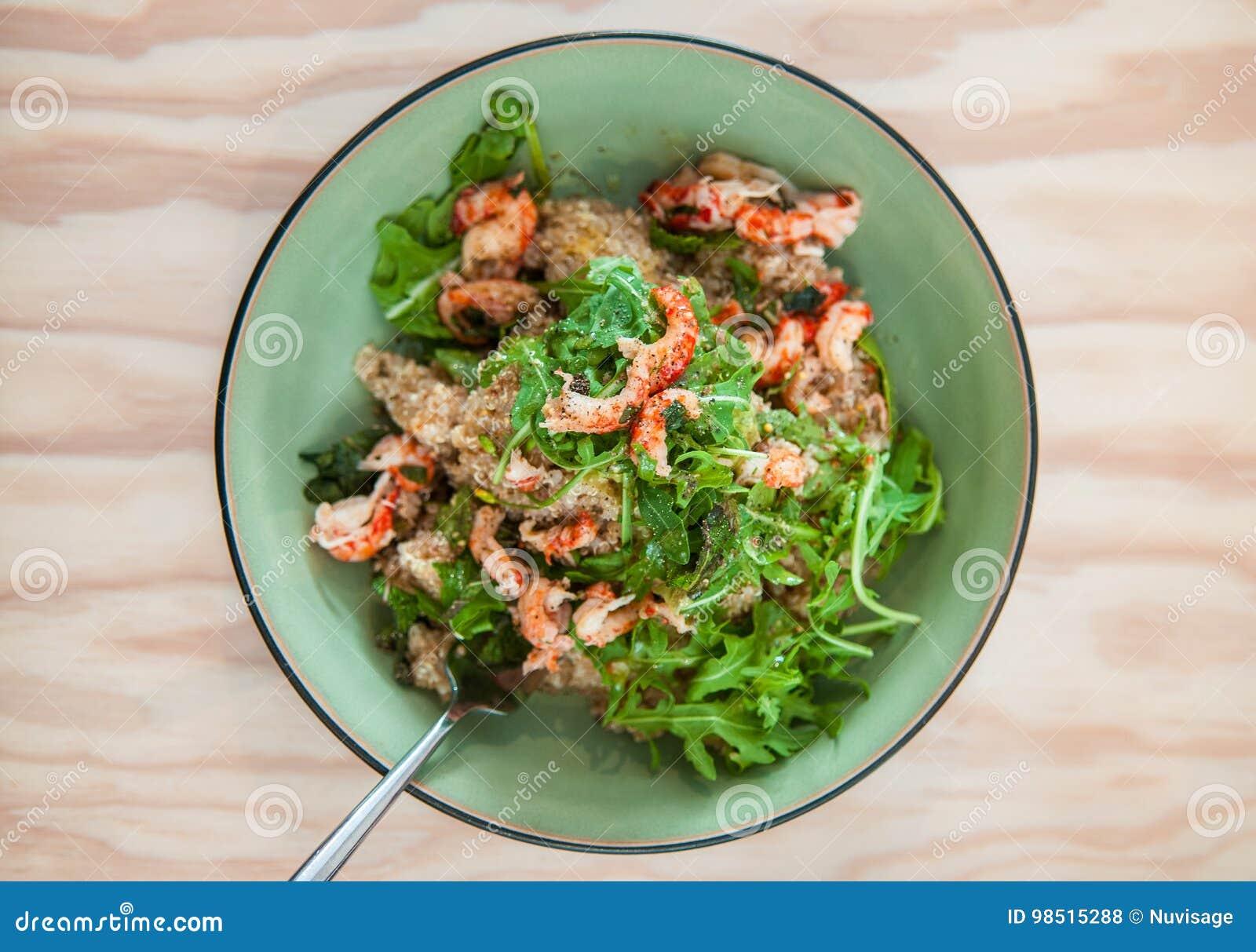 insalata dietetica di gamberetti