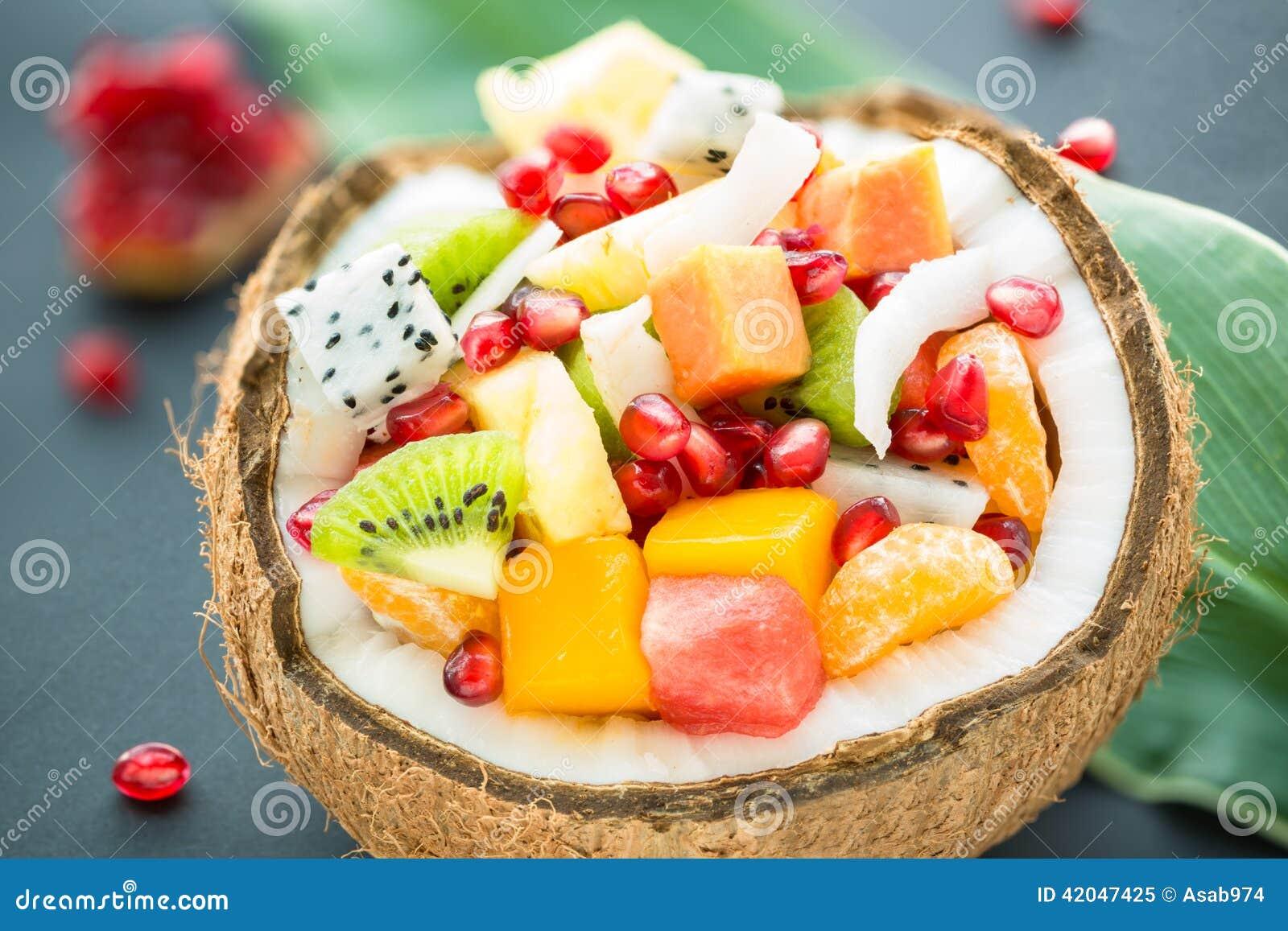 Insalata di frutta esotica