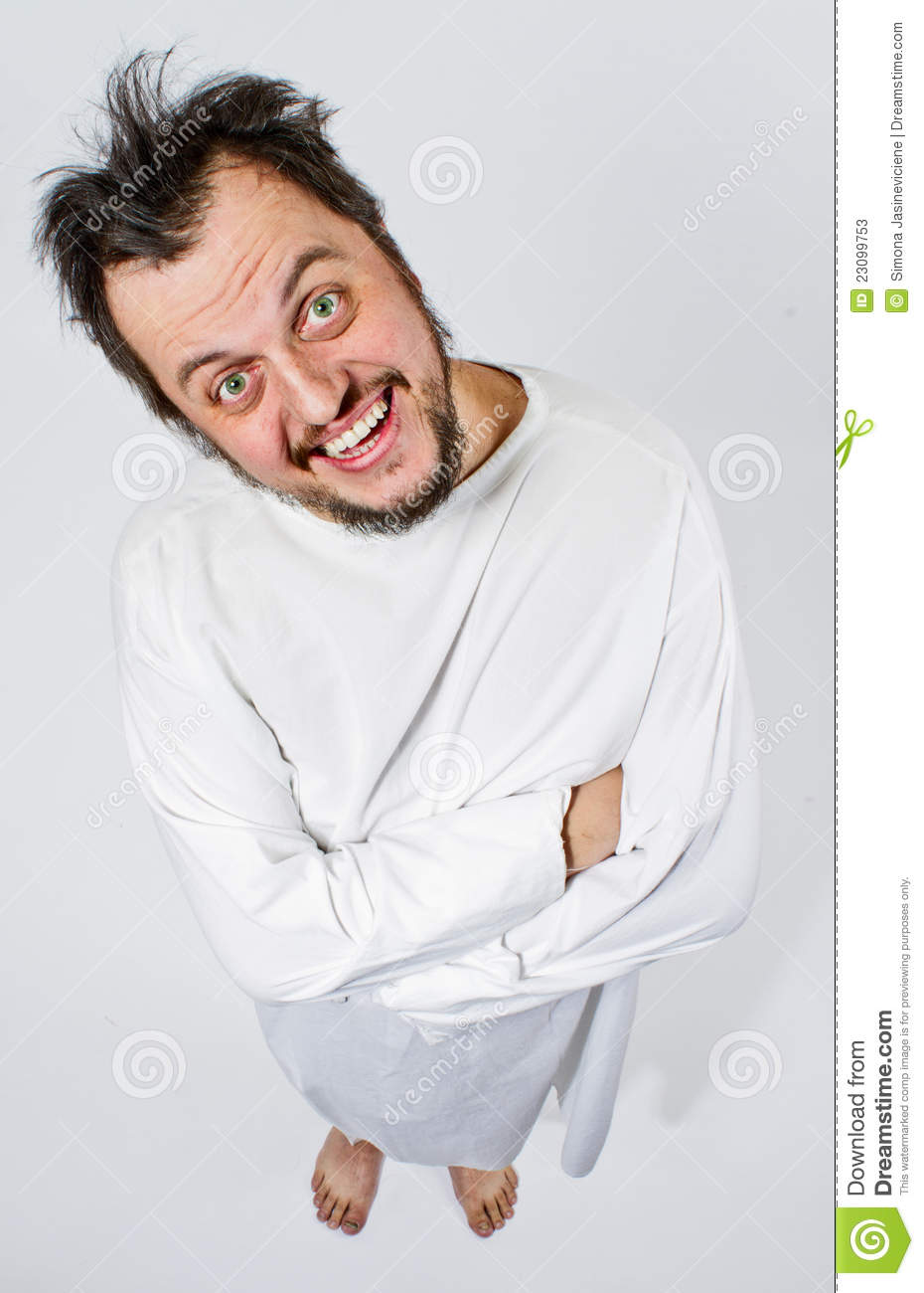 Insane Man In Strait-jacket Stock Photos - Image: 23099753