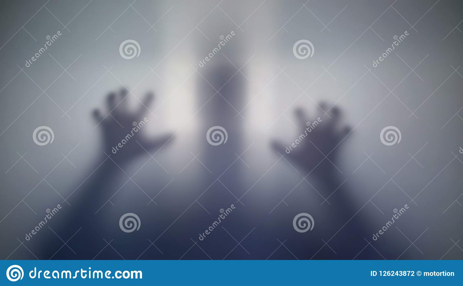 Insane person silhouette frightening his victim, strange creature, mad people