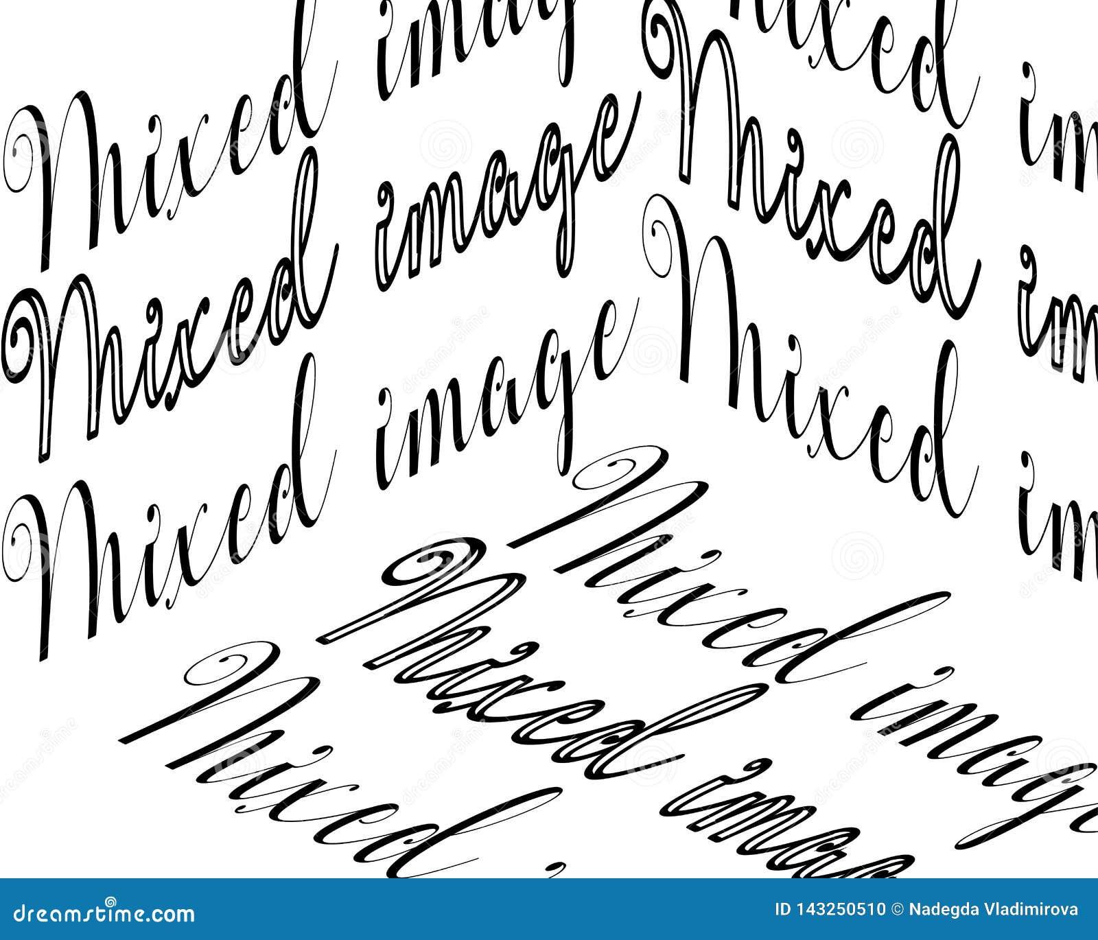 Inscrição misturada da imagem